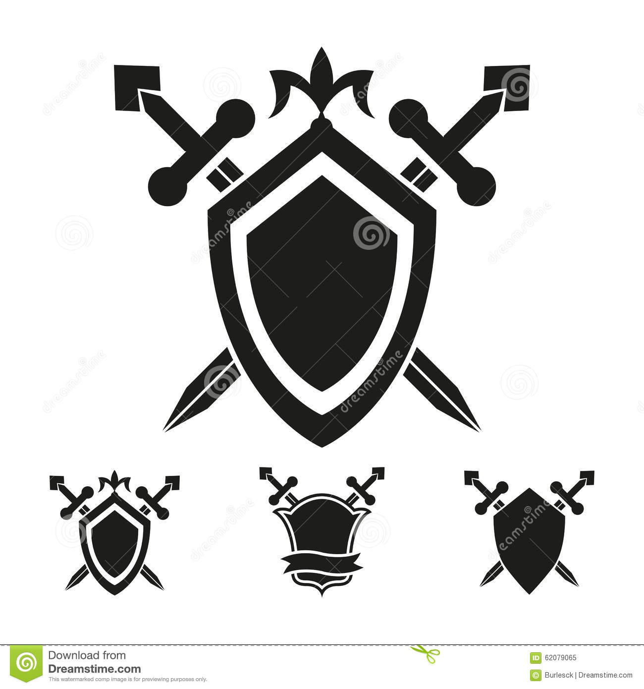 Coat Of Arms Knight Shield Templates Stock Vector - Illustration of ...