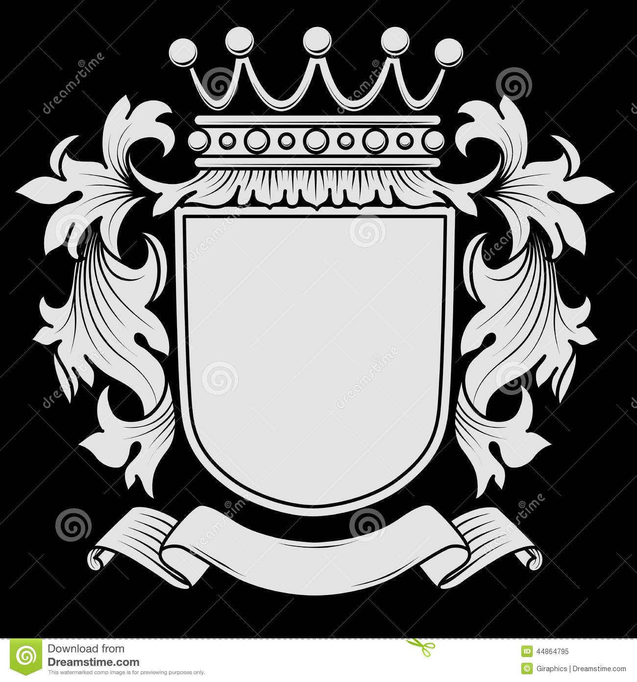 Coat Of Arms With Mantling Stock Vector - Image: 44864795