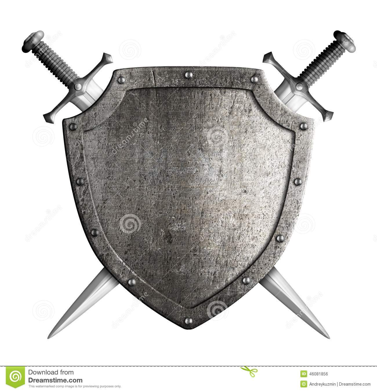 Coat Of Arms Medieval Knight Shield And Sword Stock Photo ...