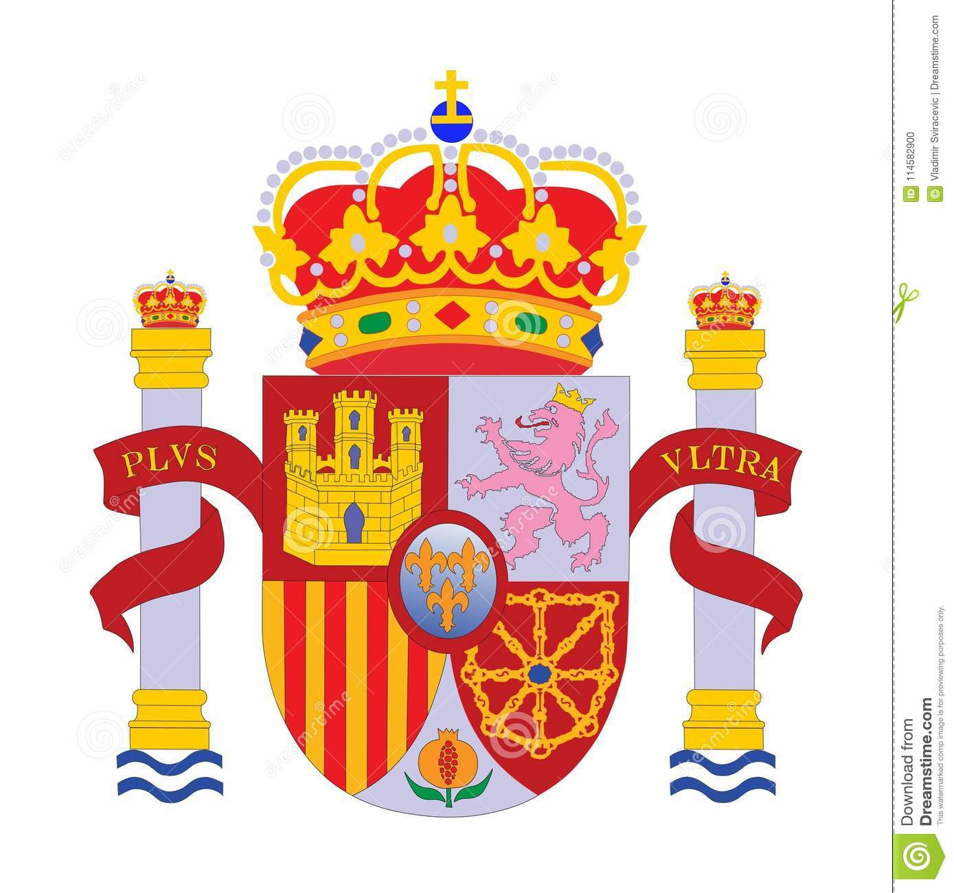 Graphics /& More O-s-Spain National Country Flag White
