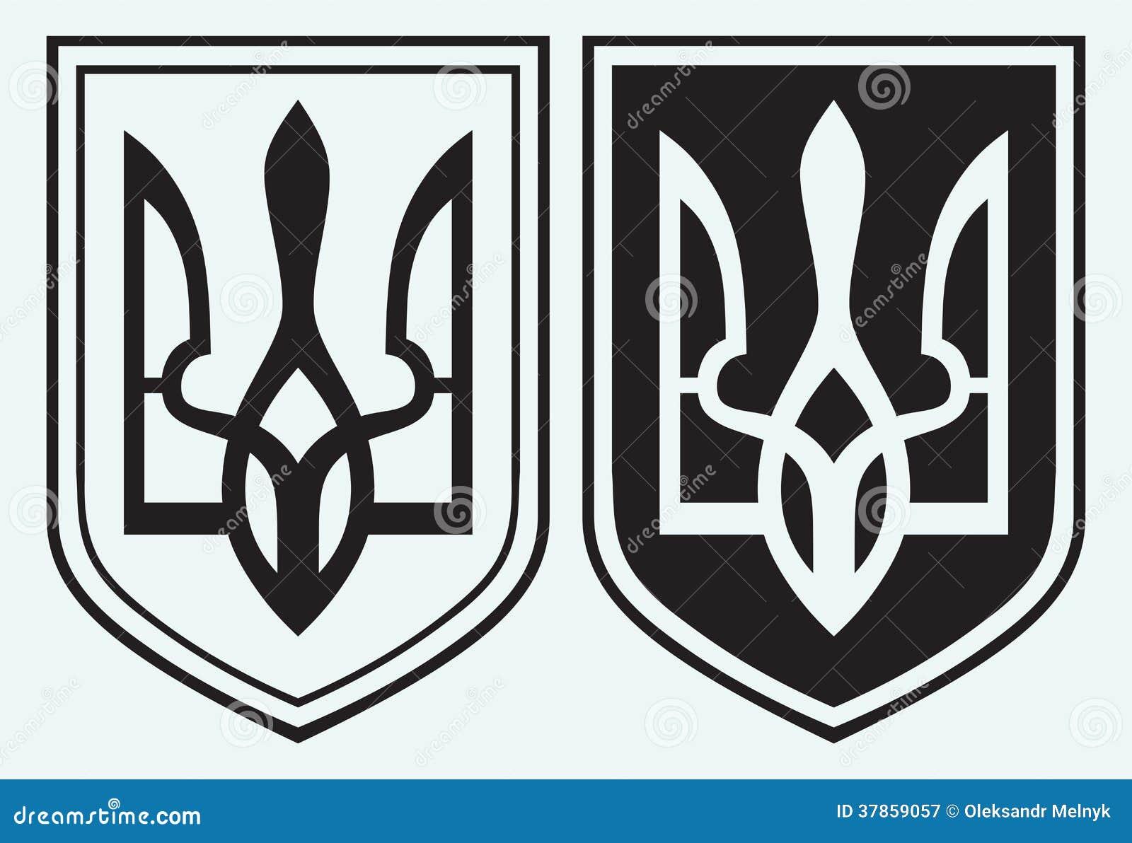 Coat of Arms of Ukraine  Ukrainian Trident Symbol
