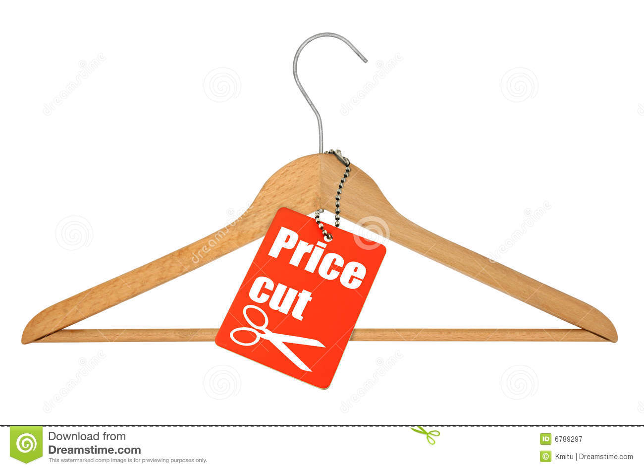 Hanger With A Price Tag Sale Stock Photo