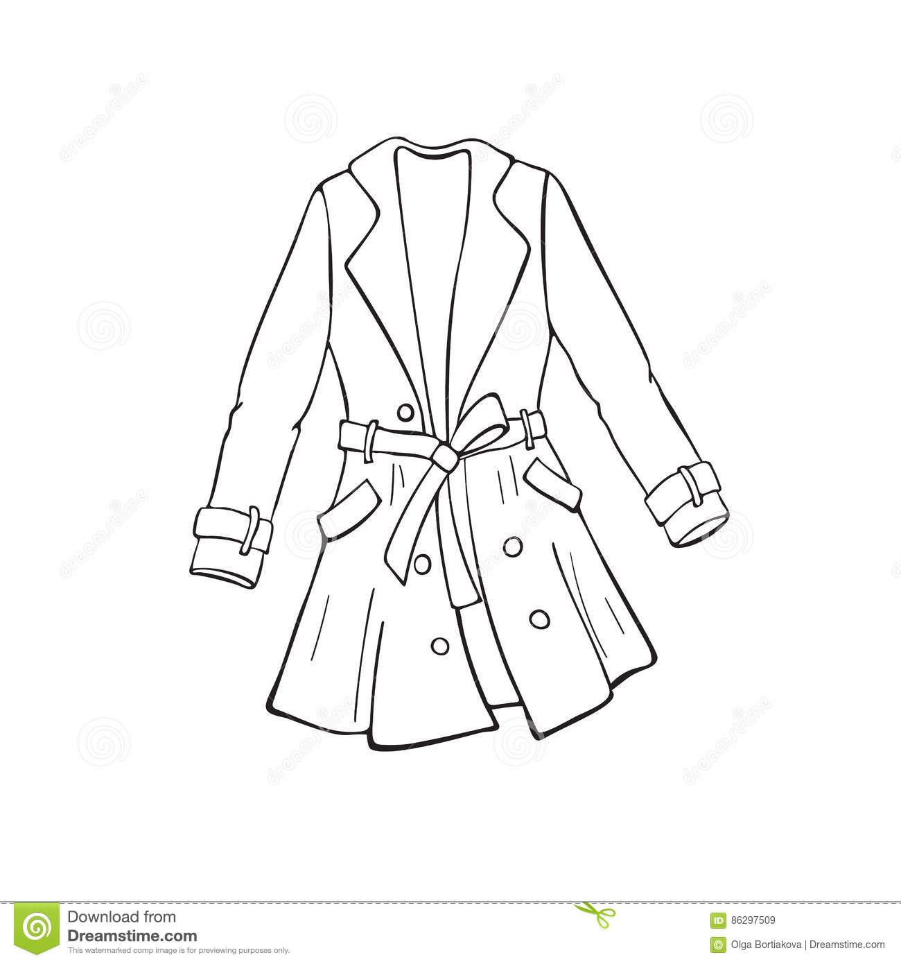 Line Drawing Jacket : Coat outline icon stock vector illustration of concept