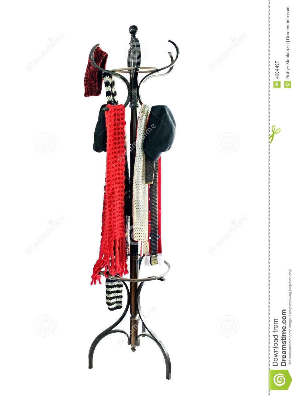 Coat Rack With Hats And Scarves Stock Image Image 4004497
