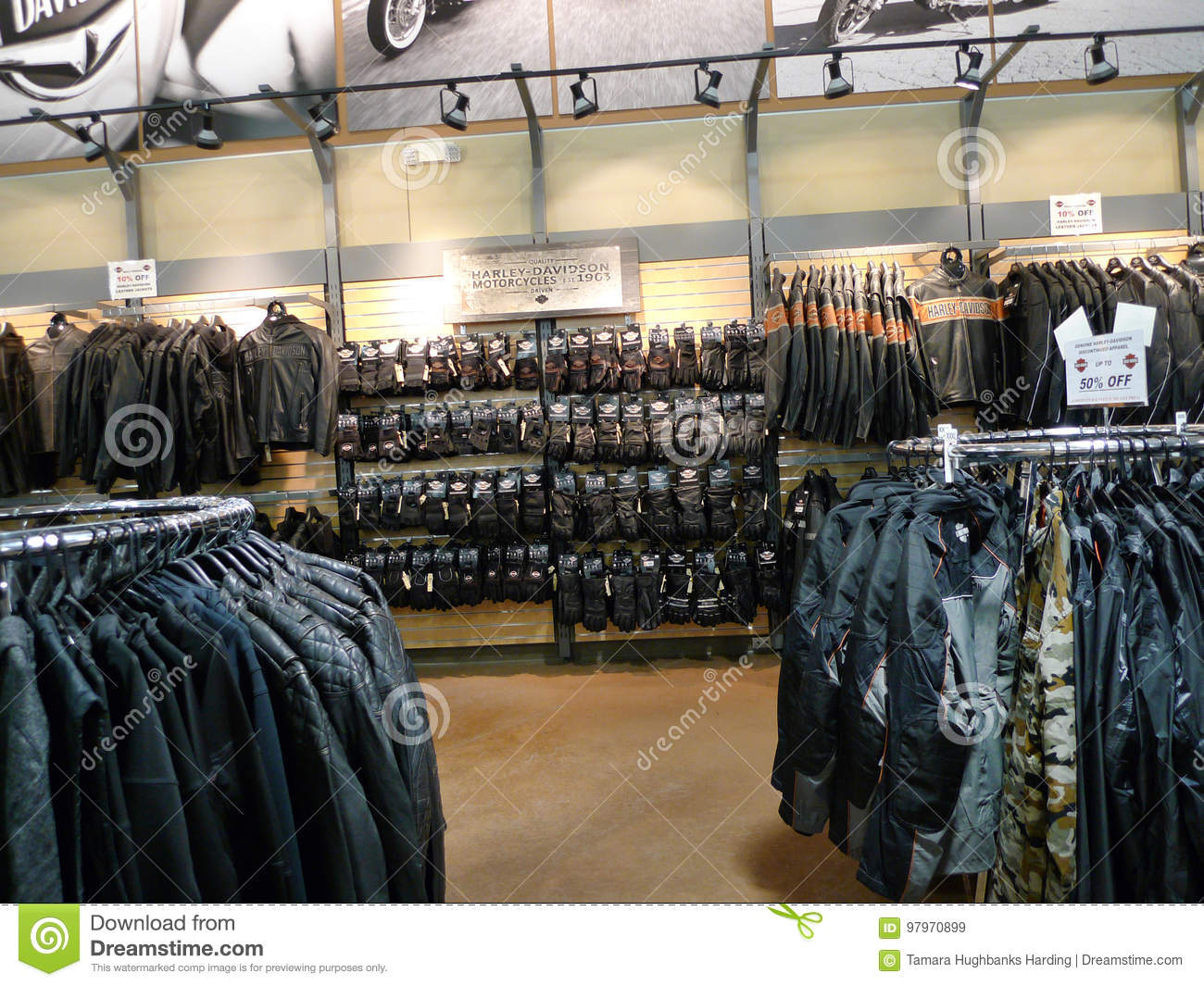 Coats, jackets and gloves at Black Hills Harley Davidson, Rapid City, South Dakota