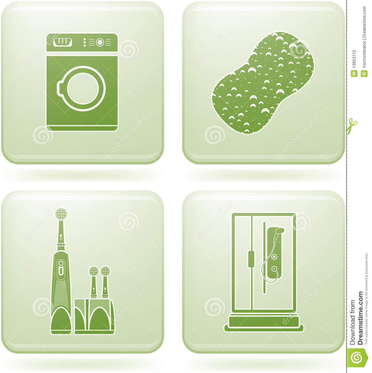Cobalt square 2d icons set bathroom stock photography for Bathroom 2d planner