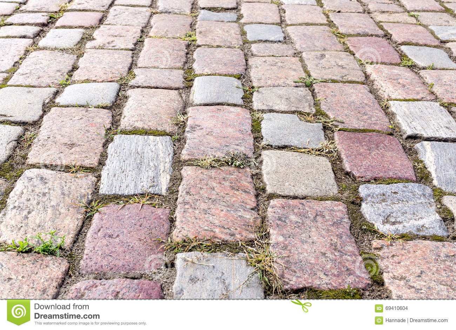 Cobbled block pavement