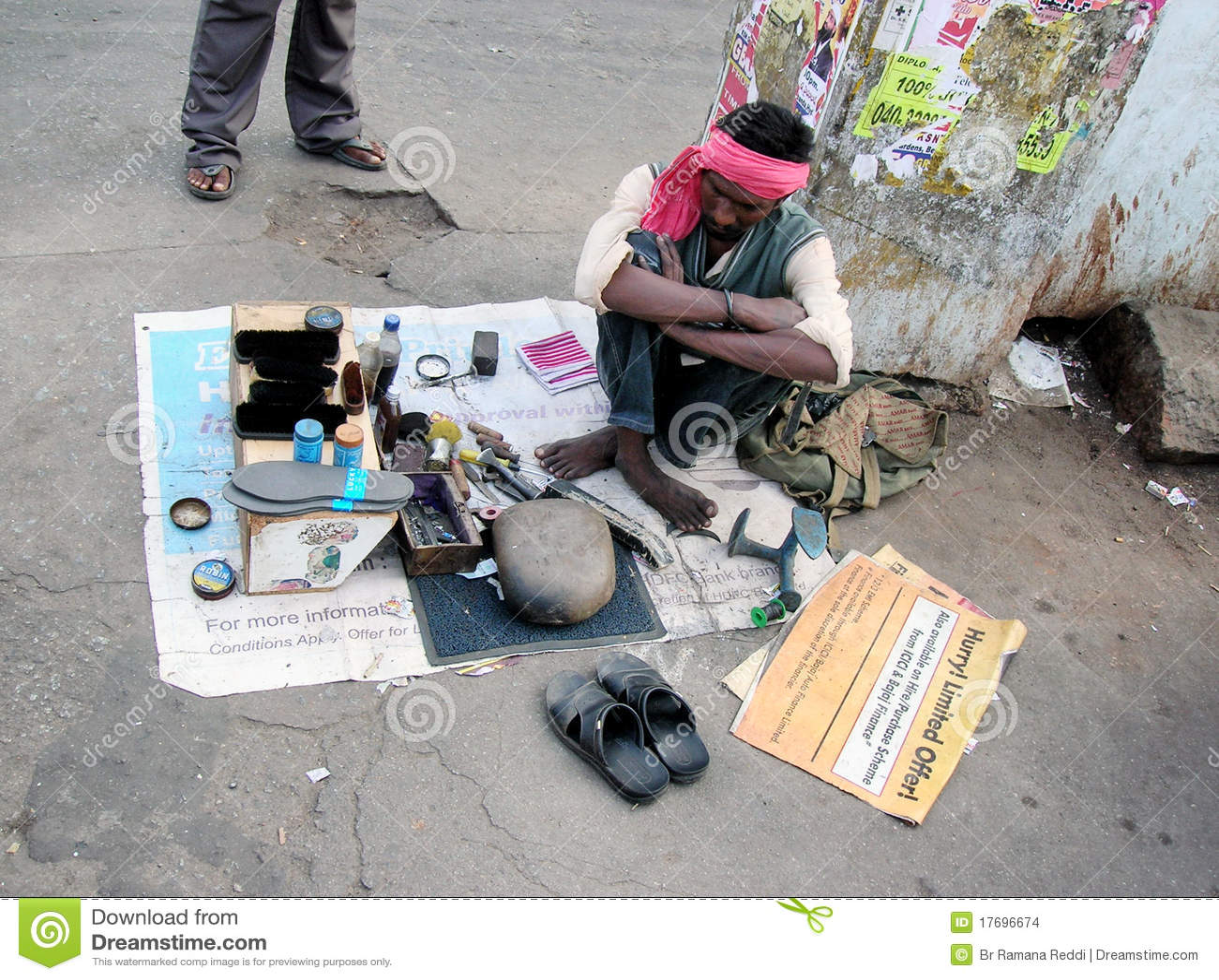 Cobbler działanie indyjski uliczny