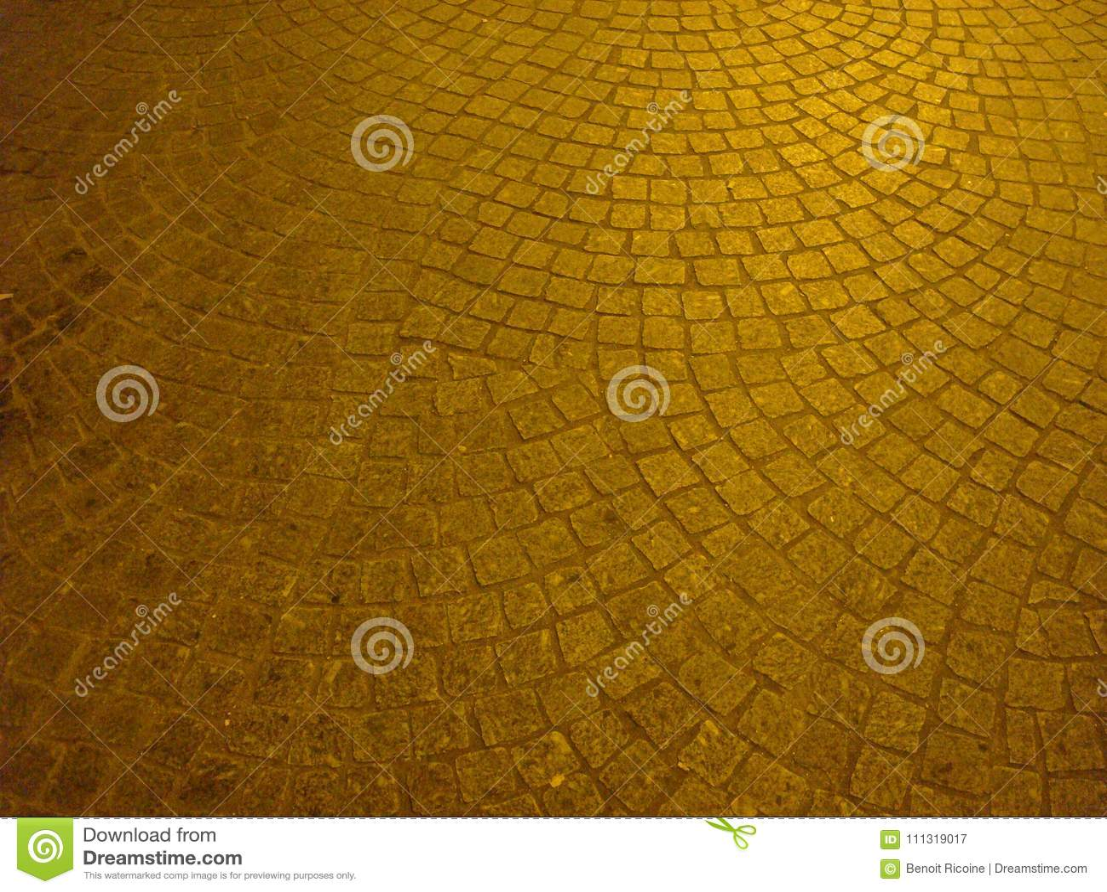 Cobbles on a square in Paris