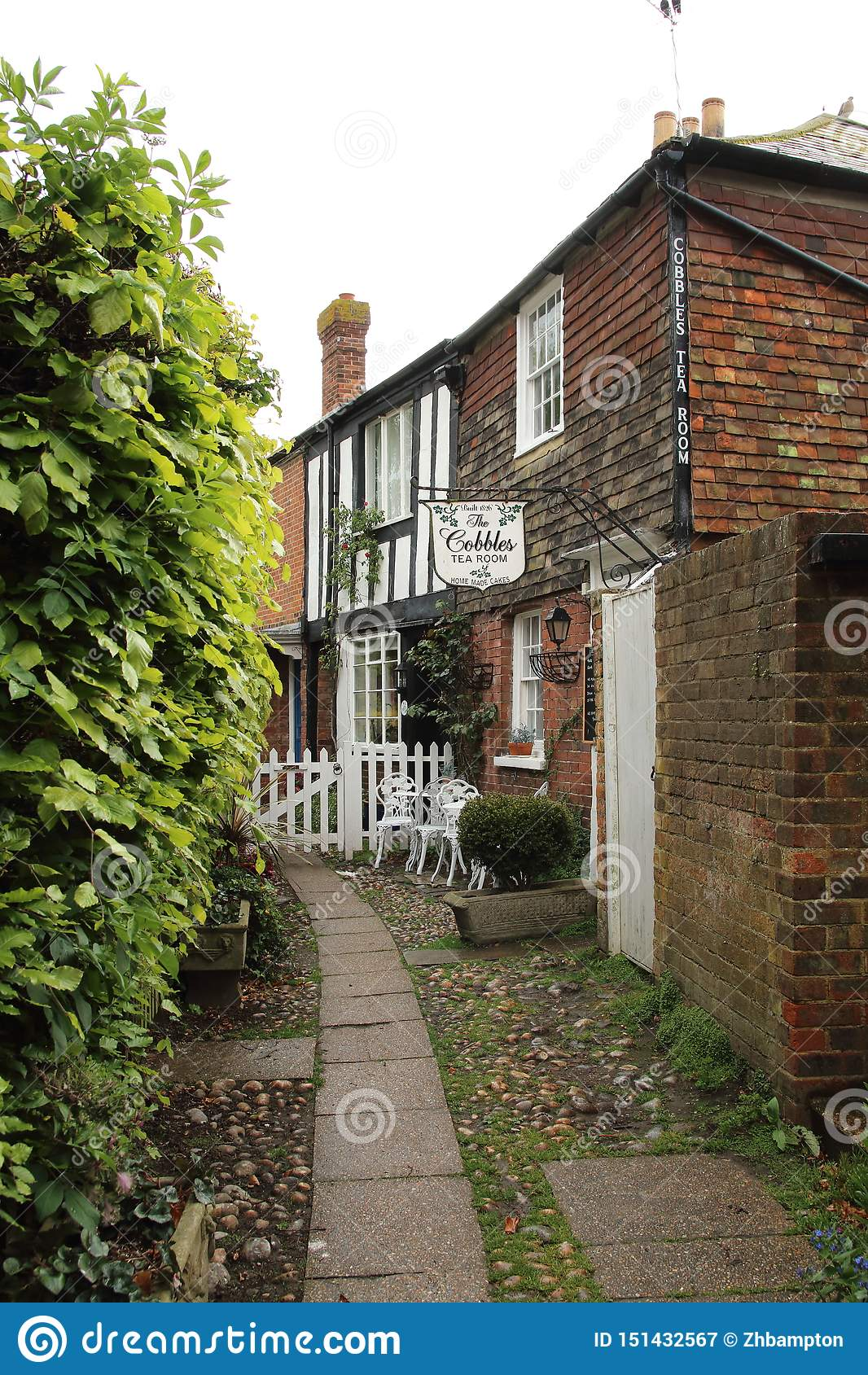 The Cobbles Tea room in Rye East Sussex, England