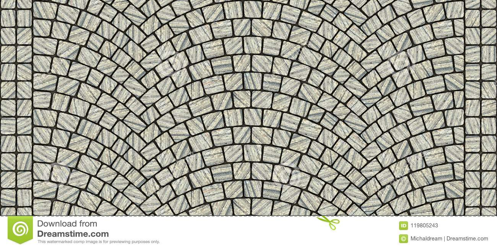 Road curved cobblestone texture 029