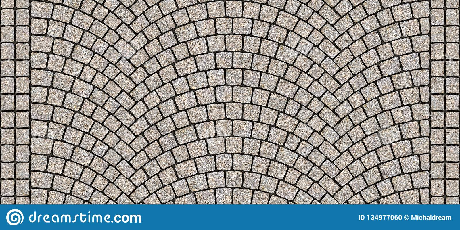 . Road Curved Cobblestone Texture 064 Stock Illustration