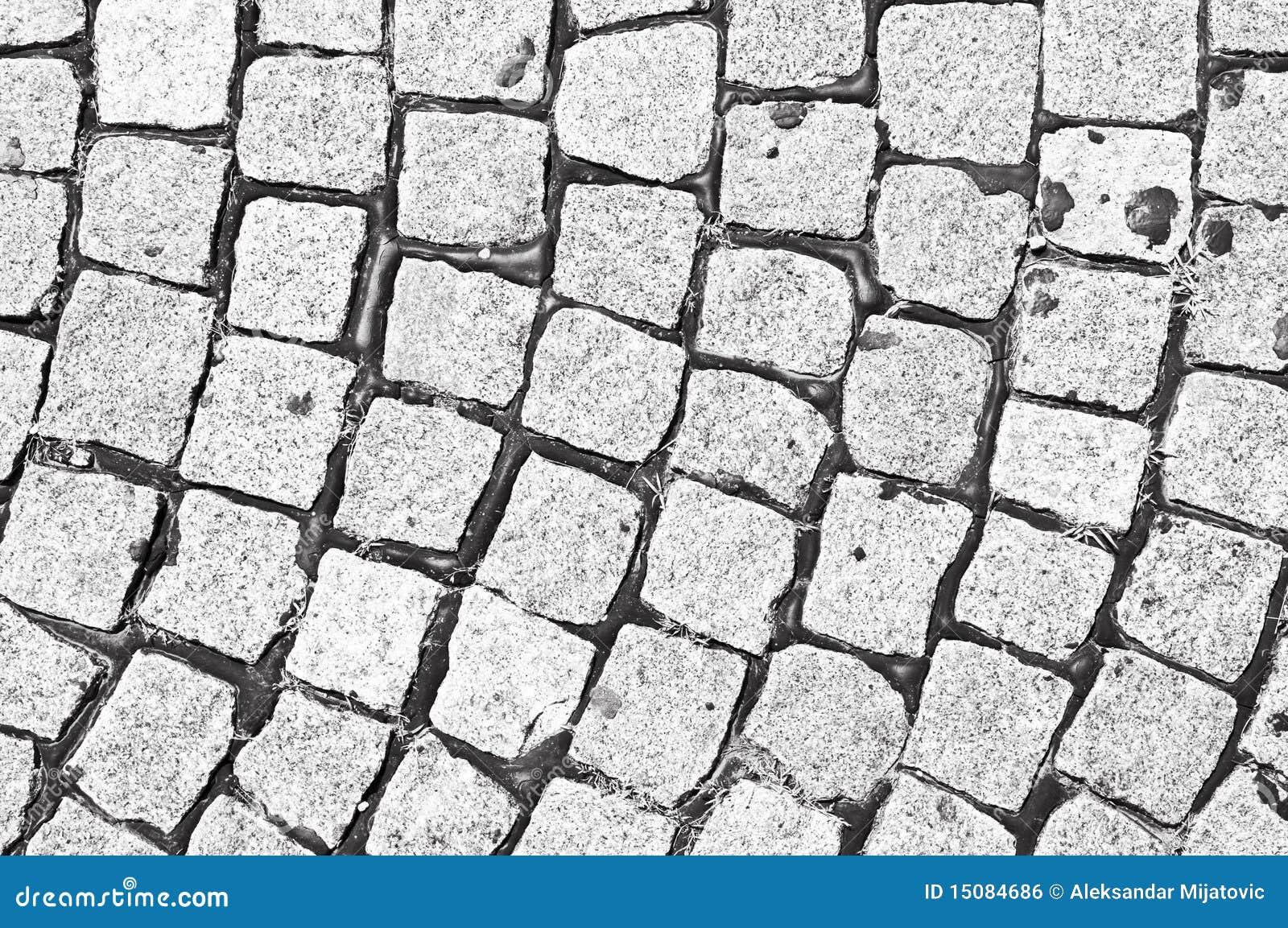 Cobblestone Black And White Stock Photo - Image of gray ...