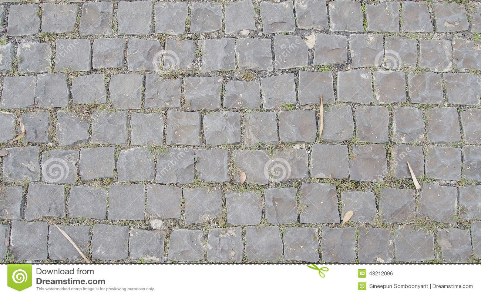 Cobblestone Flooring Texture Stock Photo