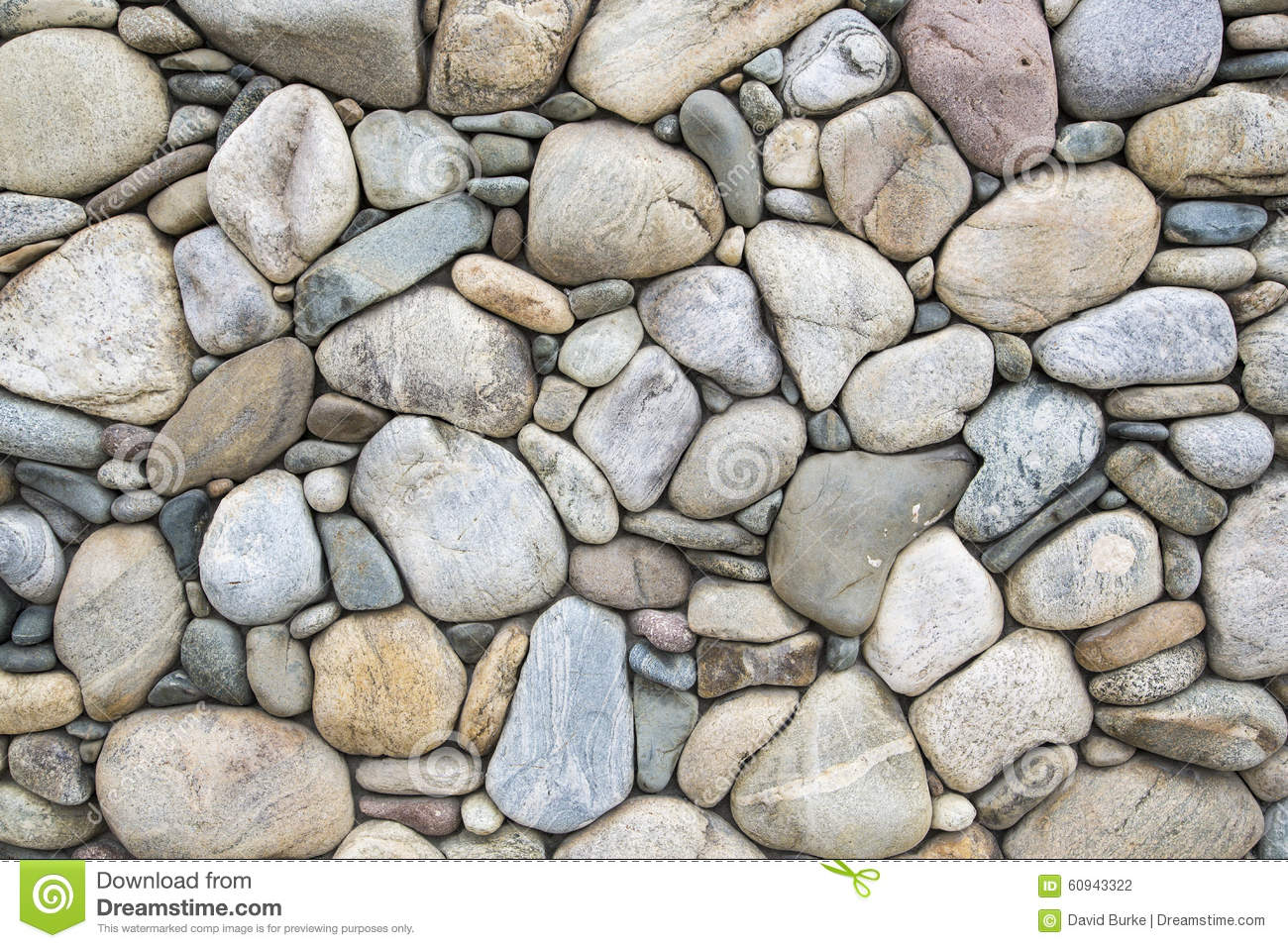 Cobblestone rock wall stock photo image of brown for River rock wall