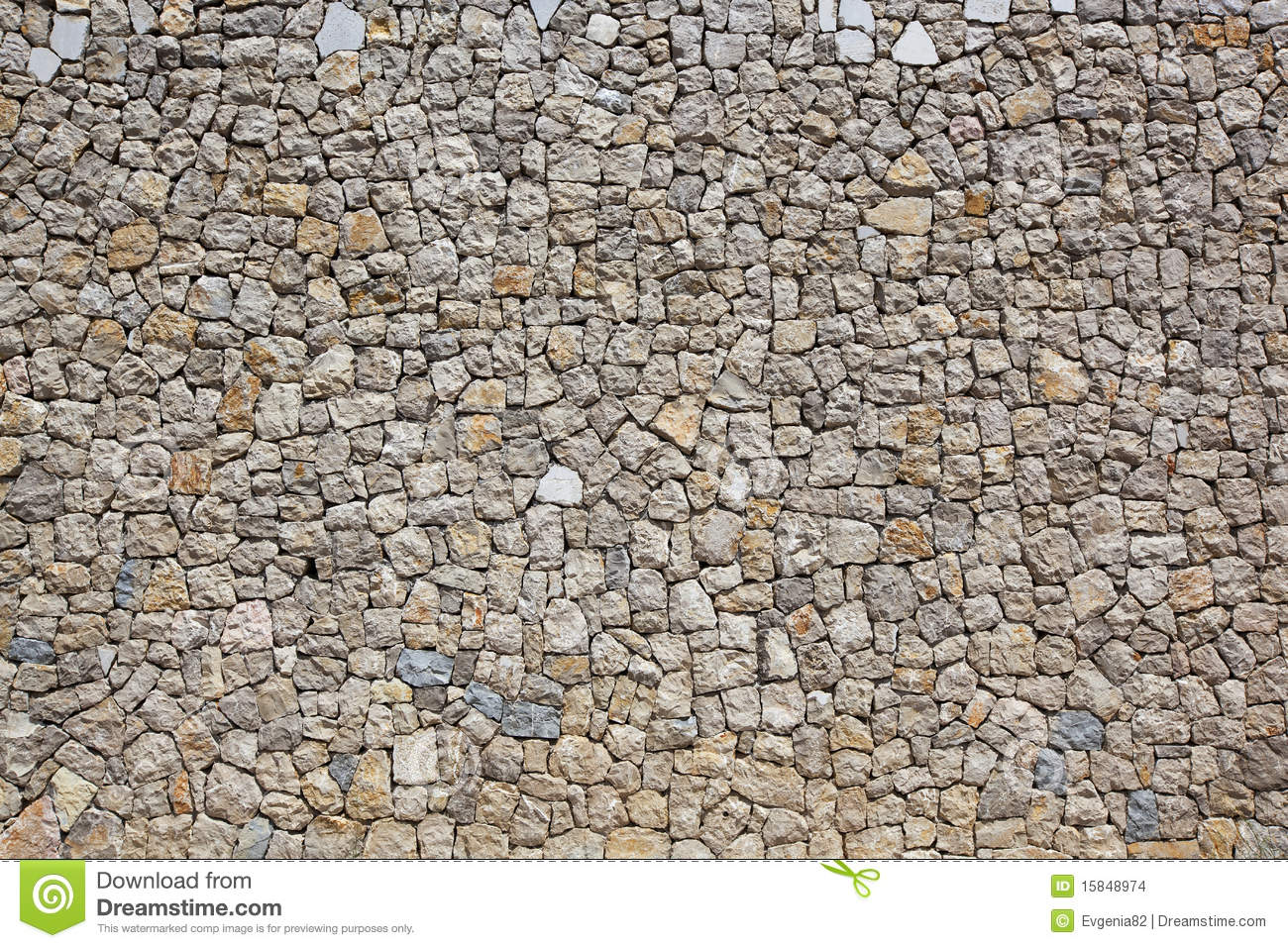 Cobblestone Wall Stock Images Image 15848974