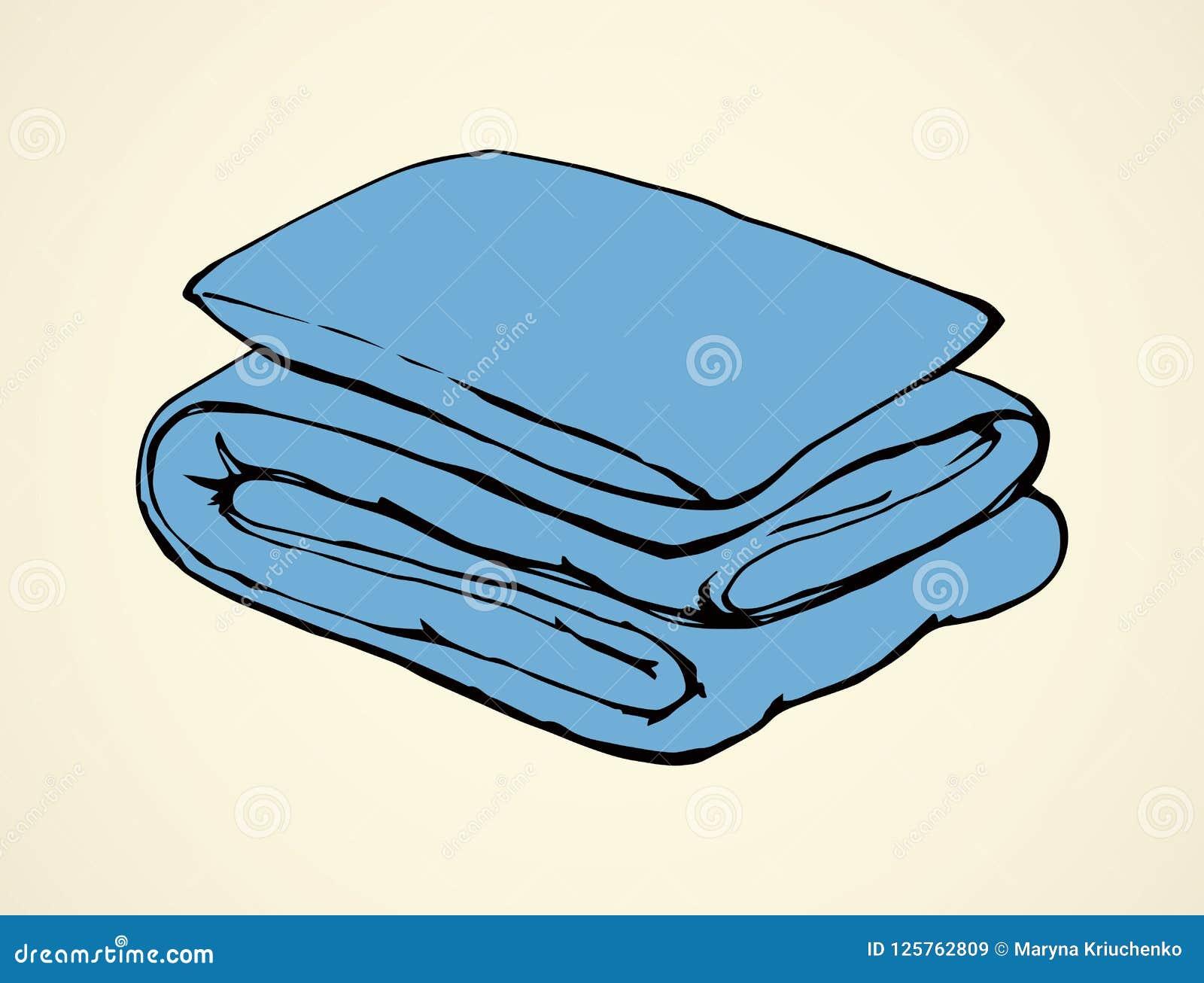 Cobertor Desenho do vetor