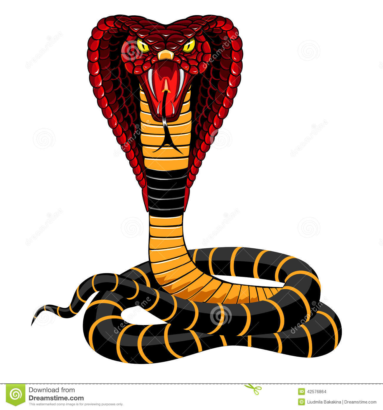 Cobra Stock Vector. Illustration Of Animal, Painting