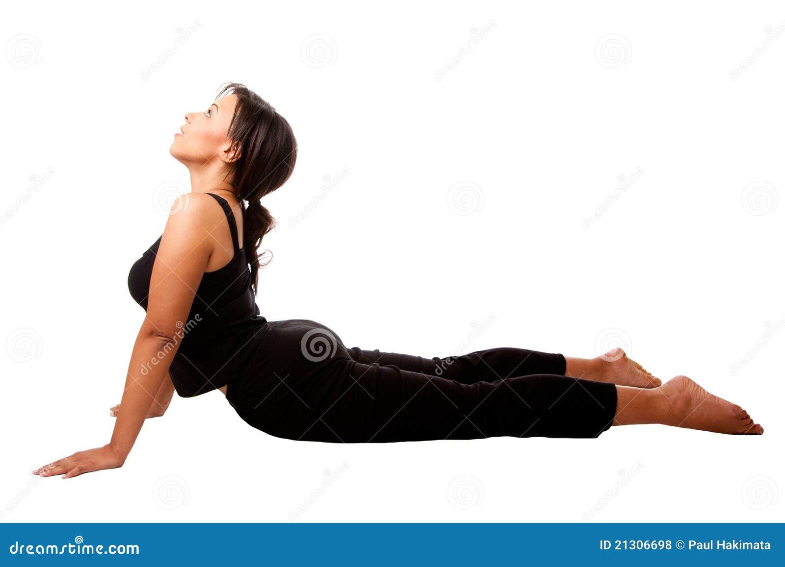 Cobra Position Yoga Excercise Royalty Free Stock Photos ...