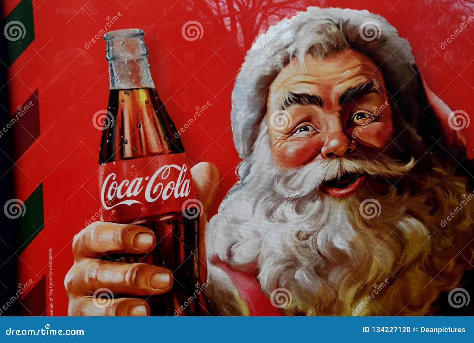 Coca Cola Christmas.Coca Cola Christmas Santa Billbaords In Denmark Editorial
