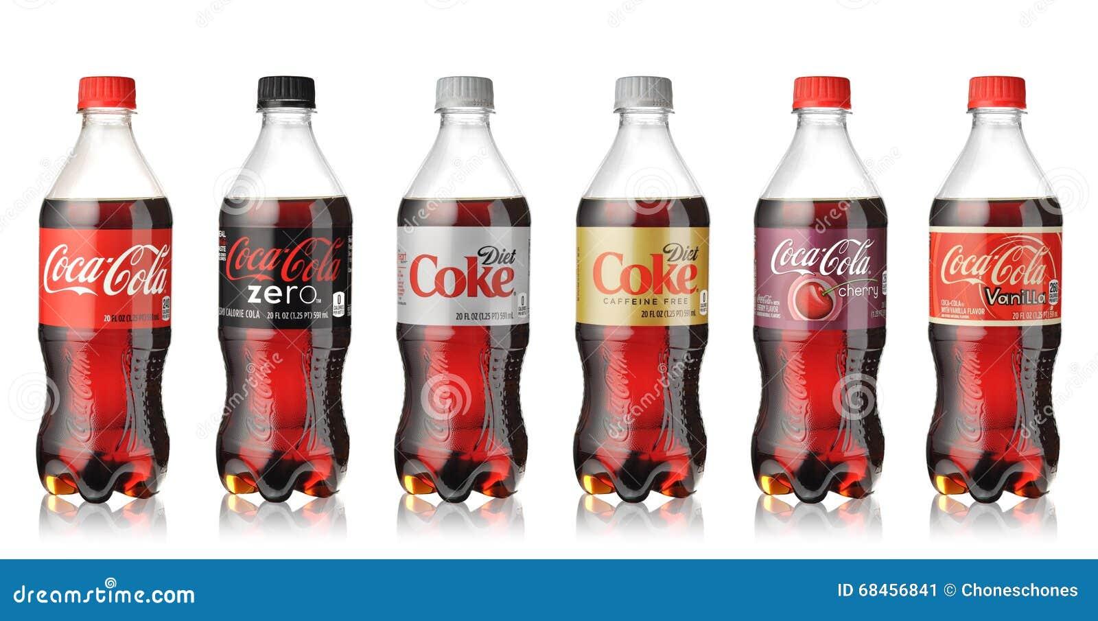 coca cola flaschen eingestellt redaktionelles foto bild. Black Bedroom Furniture Sets. Home Design Ideas