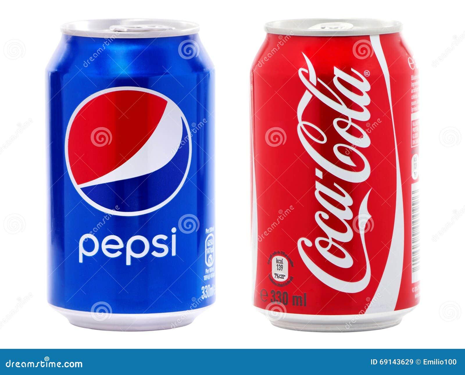 Coca-cola och Pepsi cans