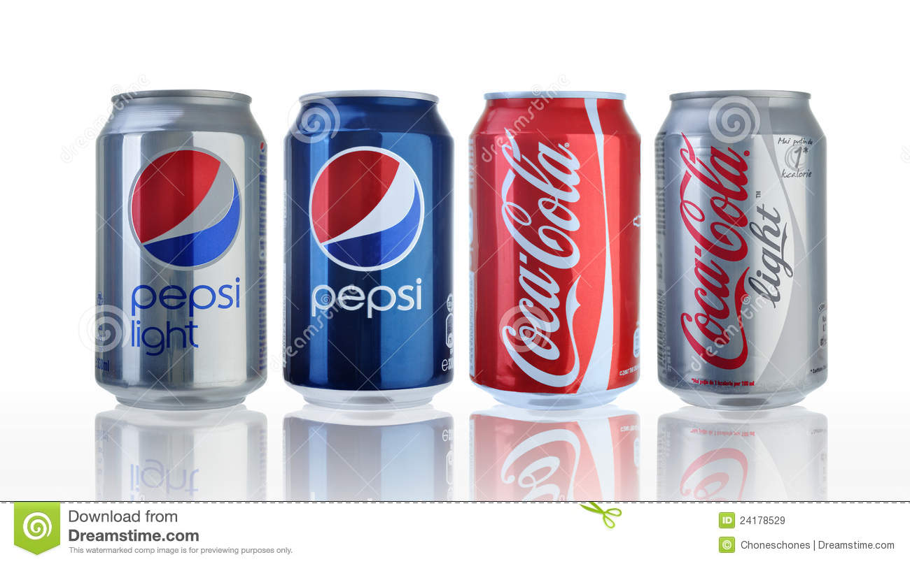 Coca Cola And Pepsi Cans Editorial Stock Image - Image: 24178529