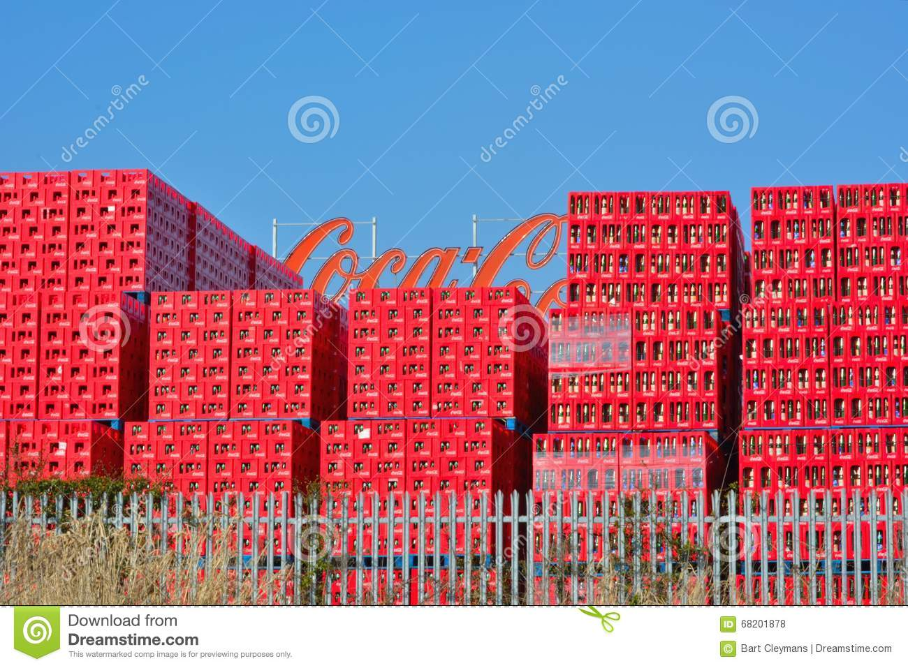 Coca Cola Trays, Belgian Branch In Ghent Editorial Stock Photo