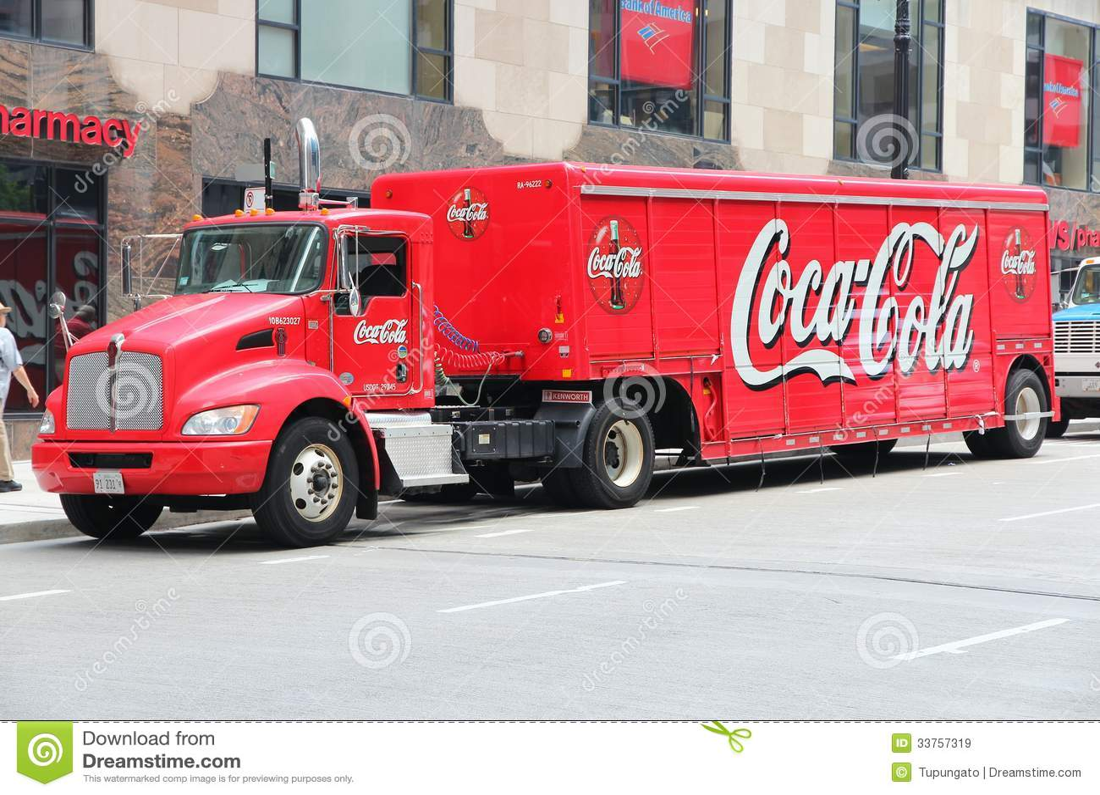 Coca Cola truck editorial stock image. Image of ...