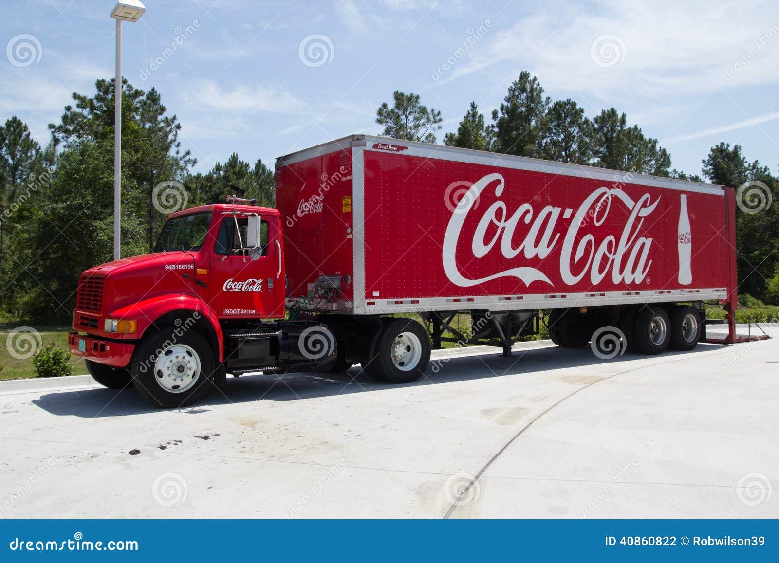 coca cola truck editorial photography image 40860822. Black Bedroom Furniture Sets. Home Design Ideas