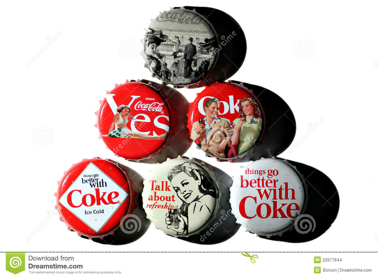 Coca Cola Vintage Bottle Caps Editorial Stock Image Image Of Cola