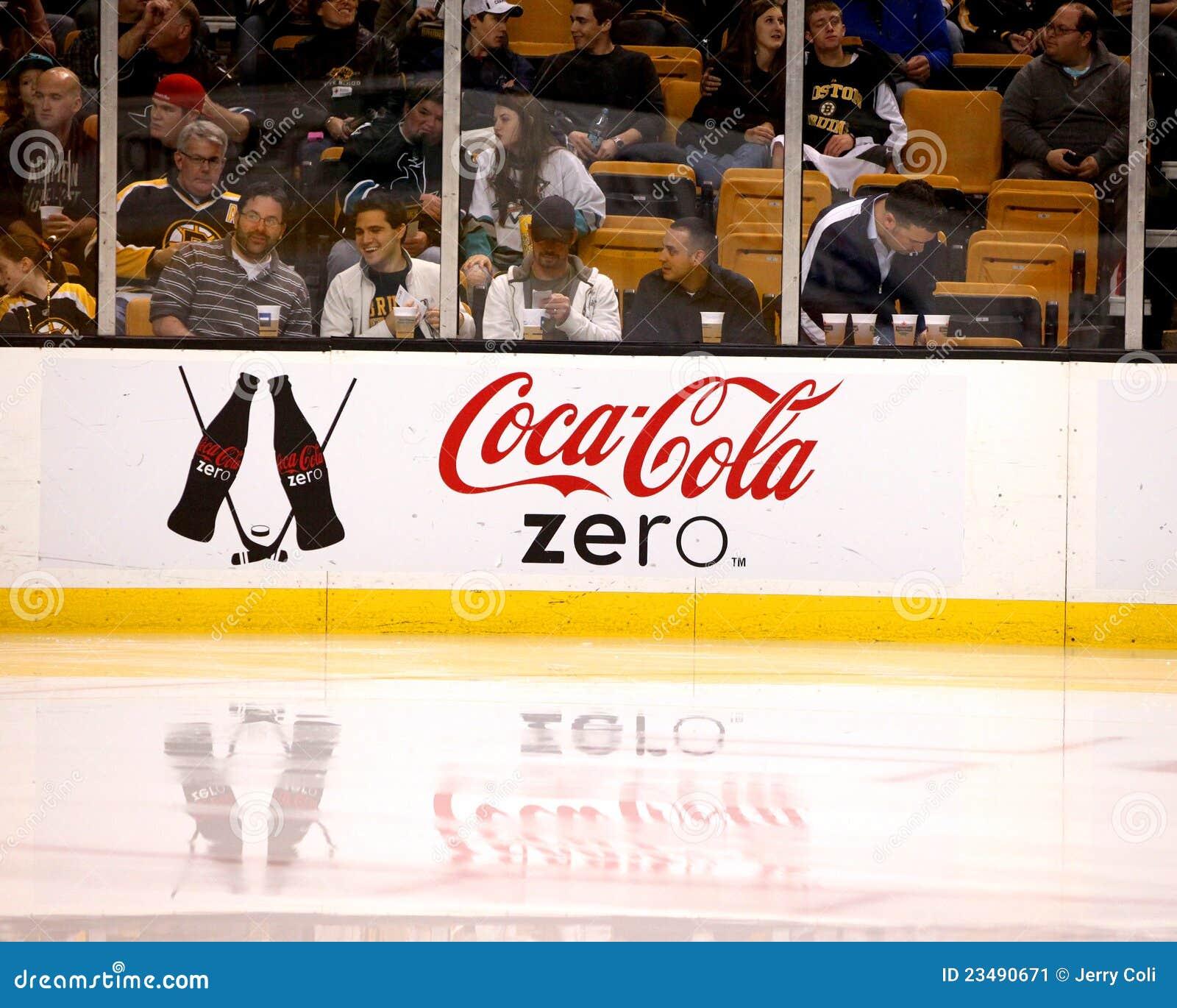 Coca Cola Zero Hockey Dasher Editorial Photo Image 23490671
