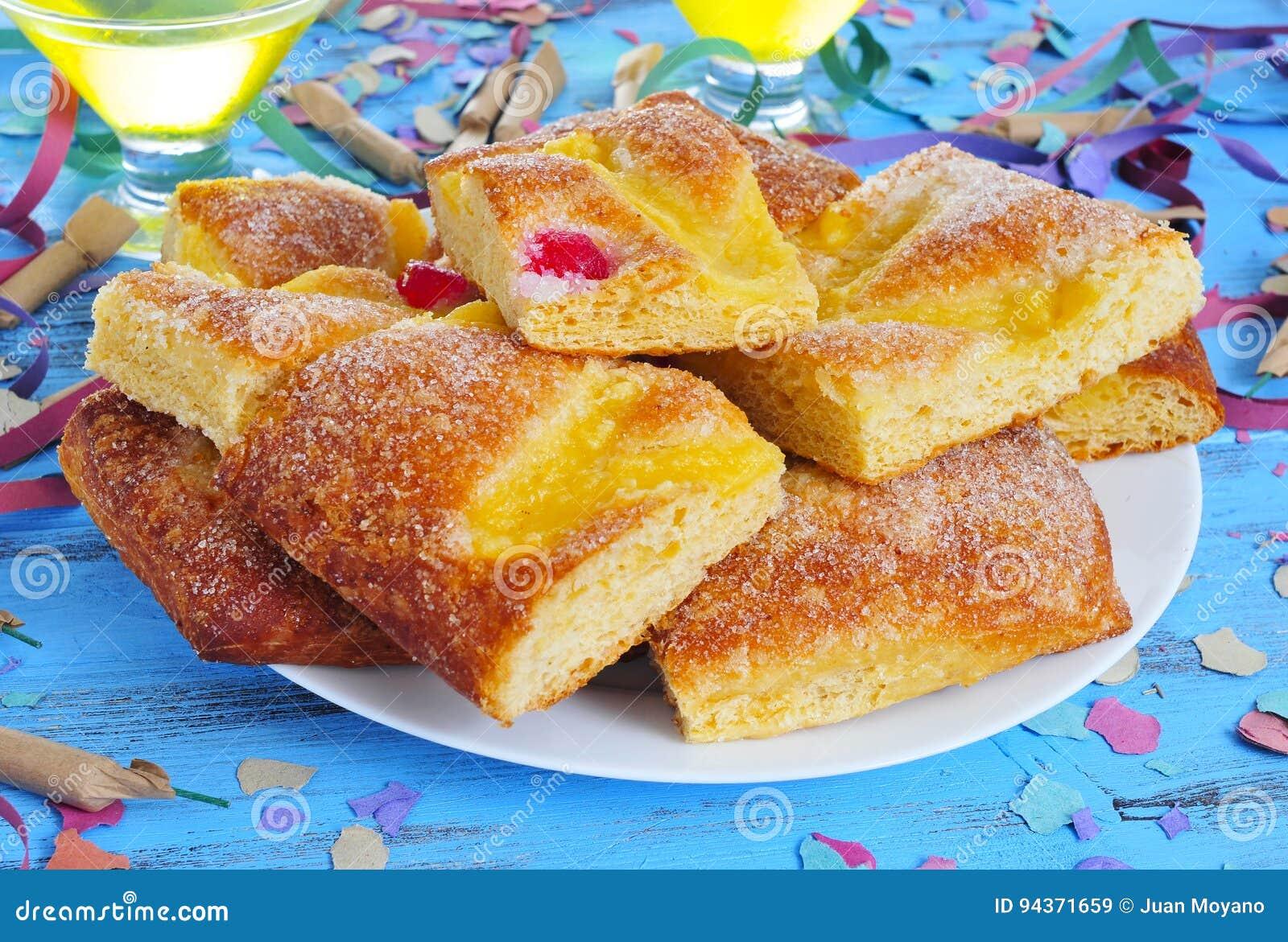 Coca De Sant Joan Susser Flacher Kuchen Von Katalonien Spanien