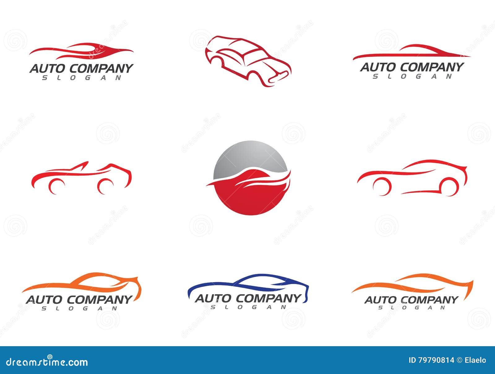 Coche auto Logo Template ilustración del vector. Ilustración de ...