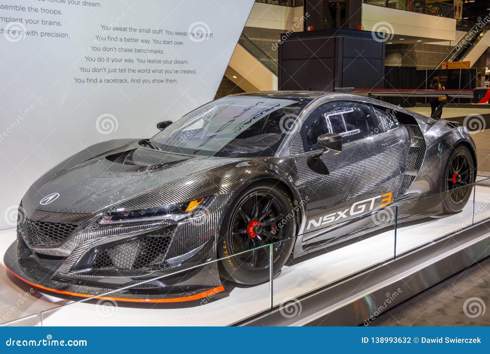 Coche de carreras de Acura NSX GT3