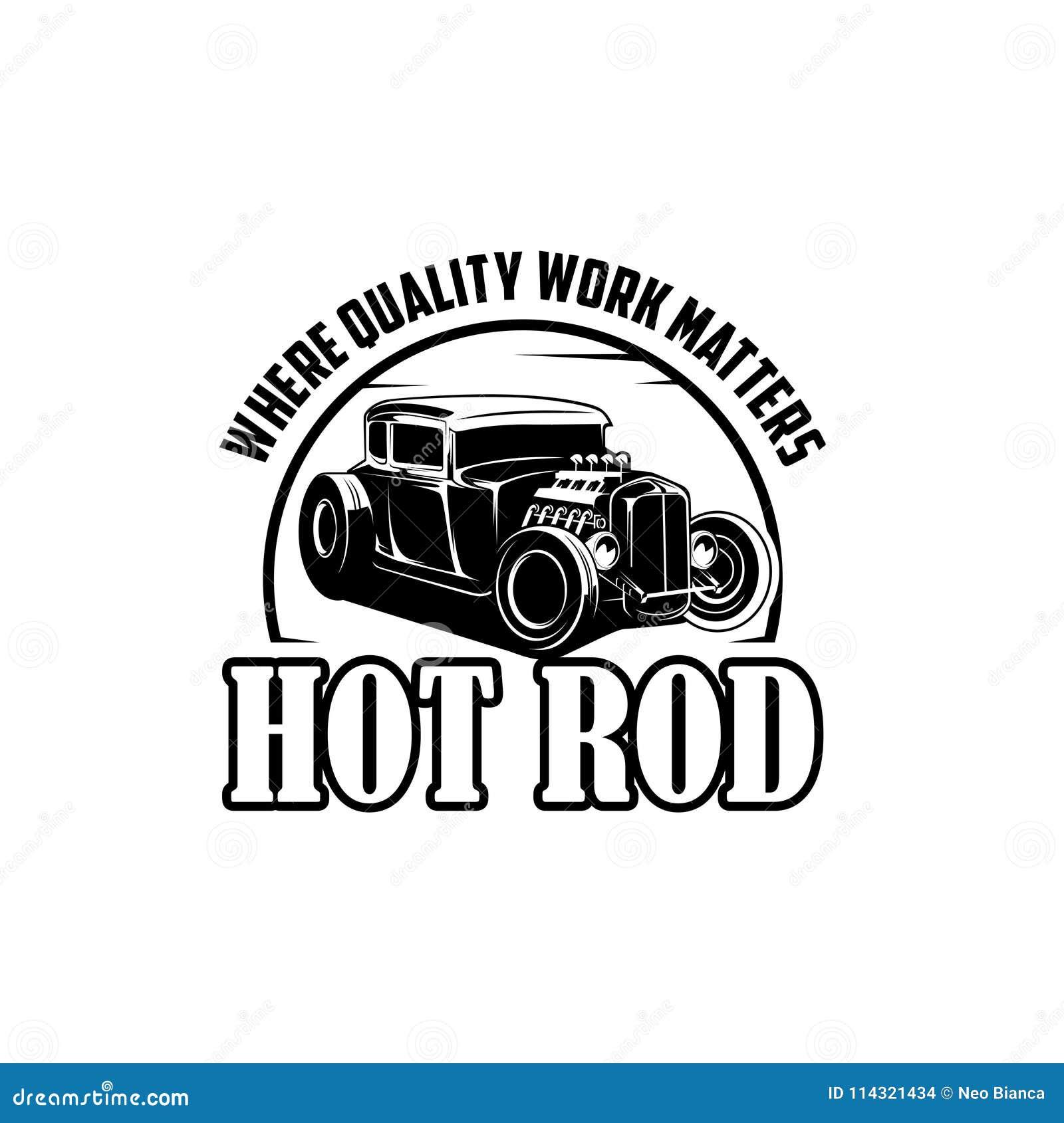 Coche de carreras donde vector del logotipo de las materias del trabajo de la calidad