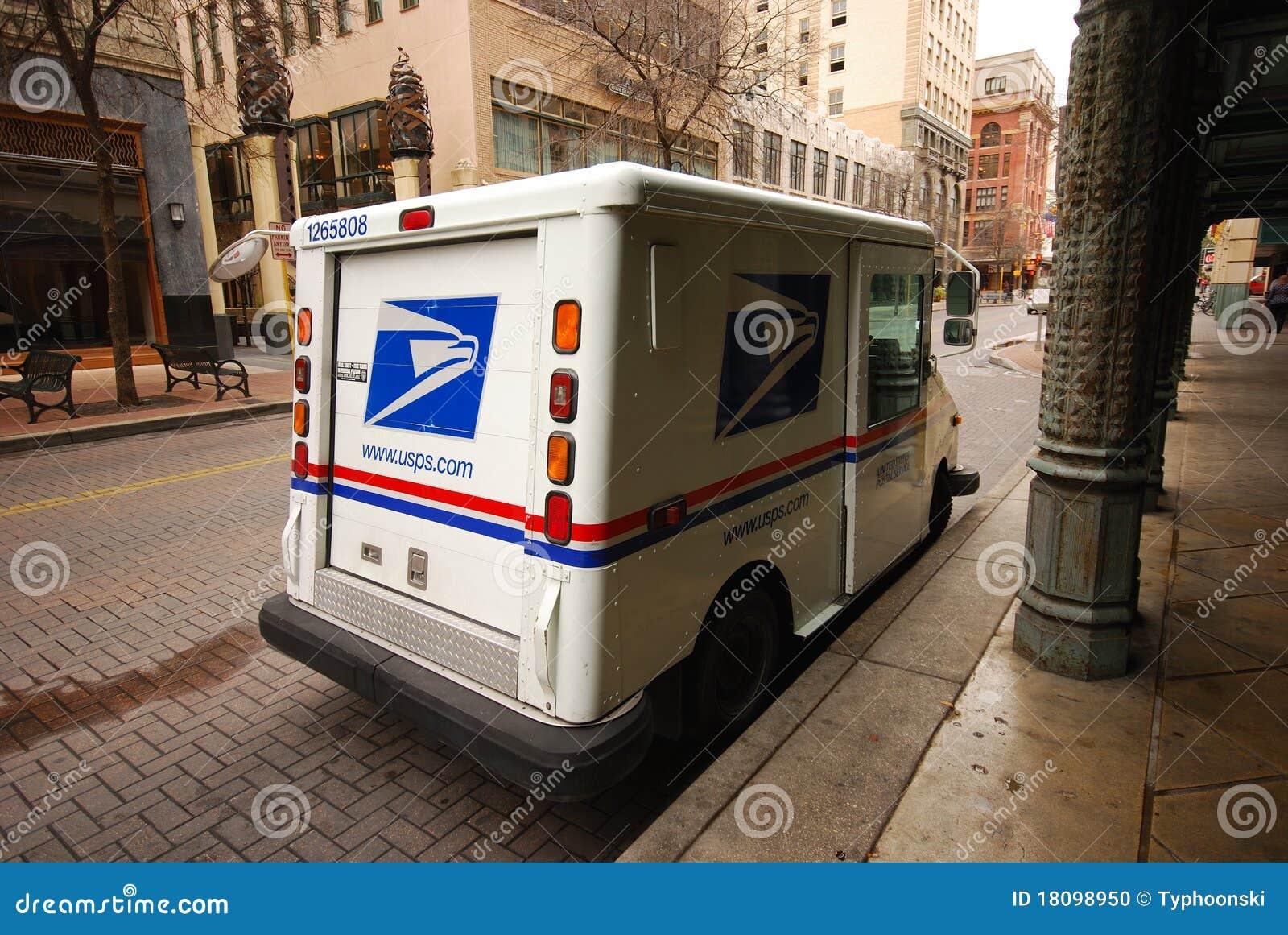 Coche del reparto del correo de los E.E.U.U.