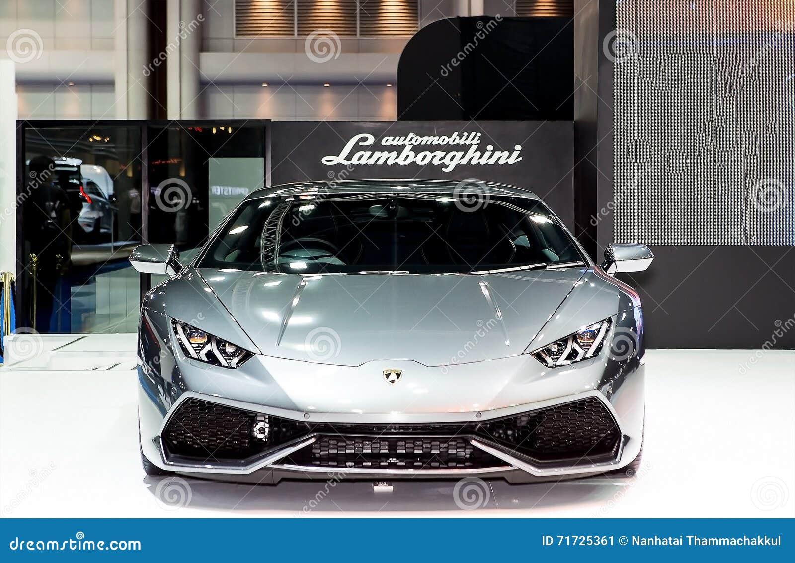 Coche deportivo del lujo de Gray Lamborghini