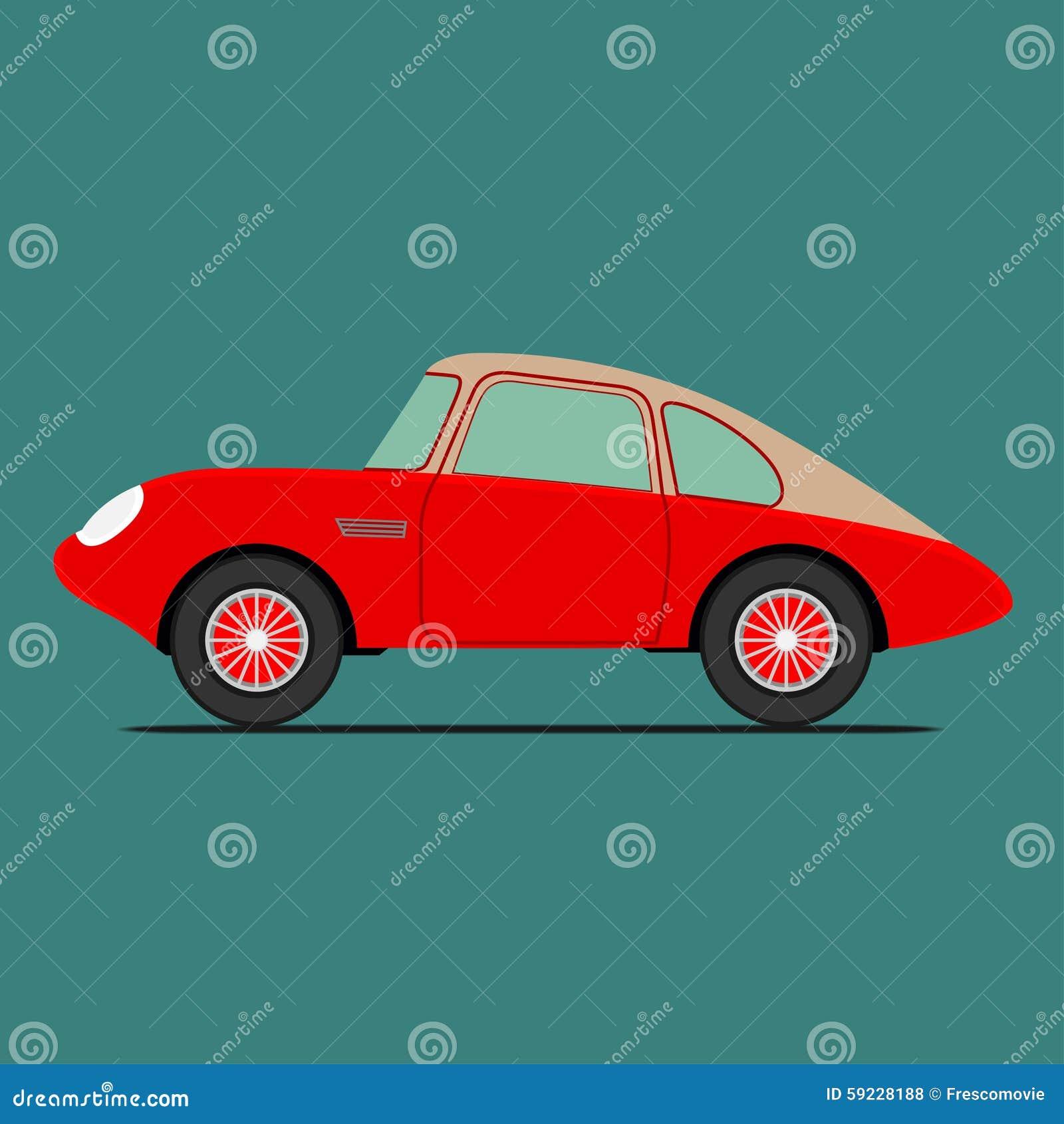 Download Coche deportivo rojo ilustración del vector. Ilustración de aceleración - 59228188