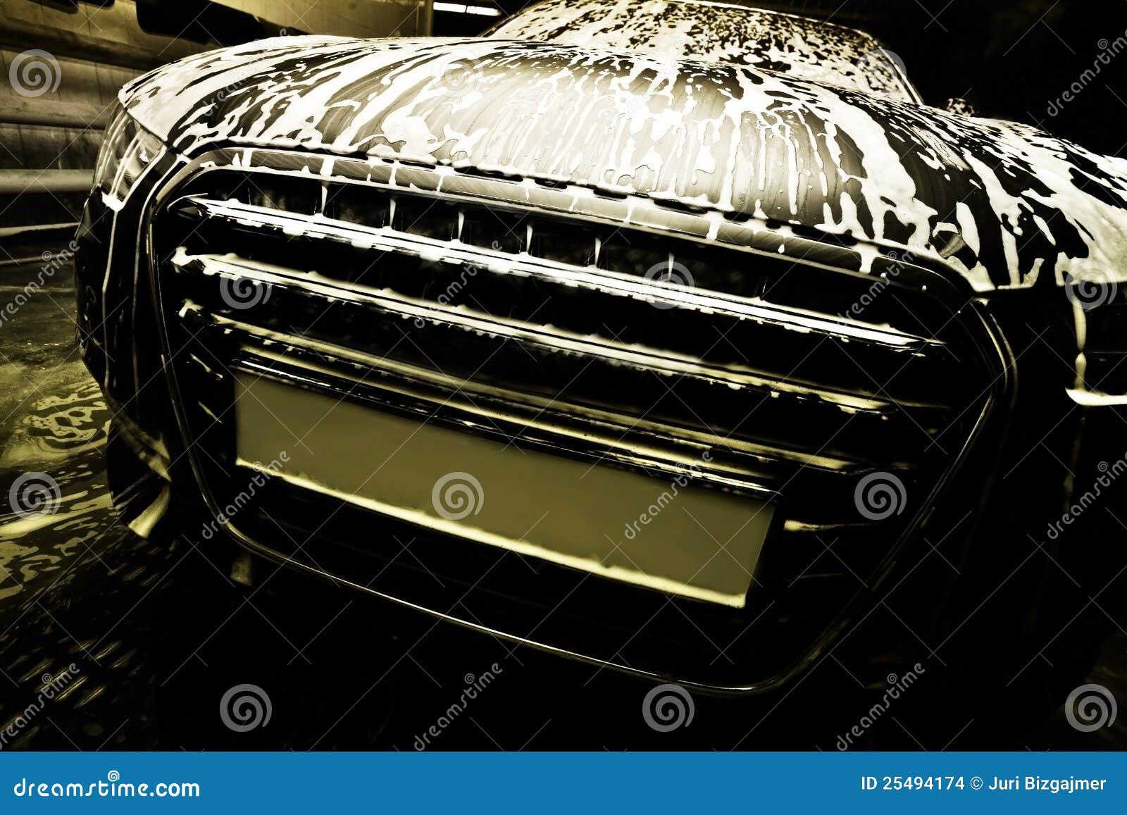 Coche en colada de coche