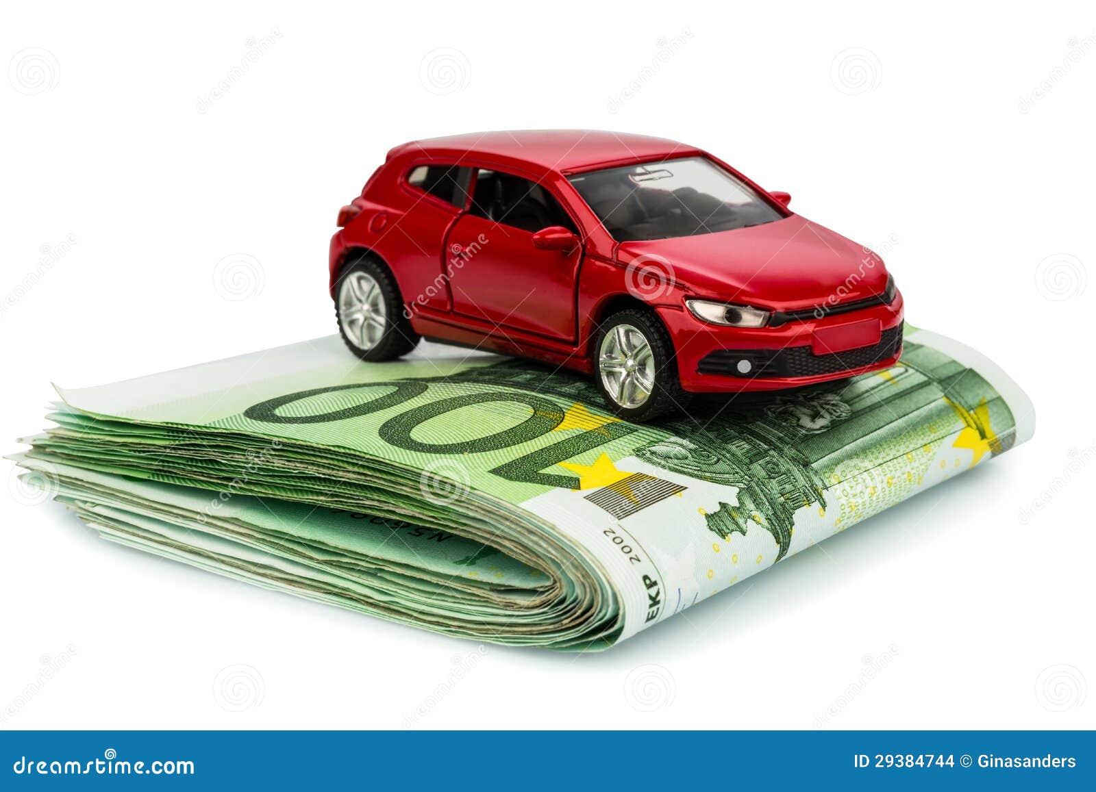 Coche en notas euro
