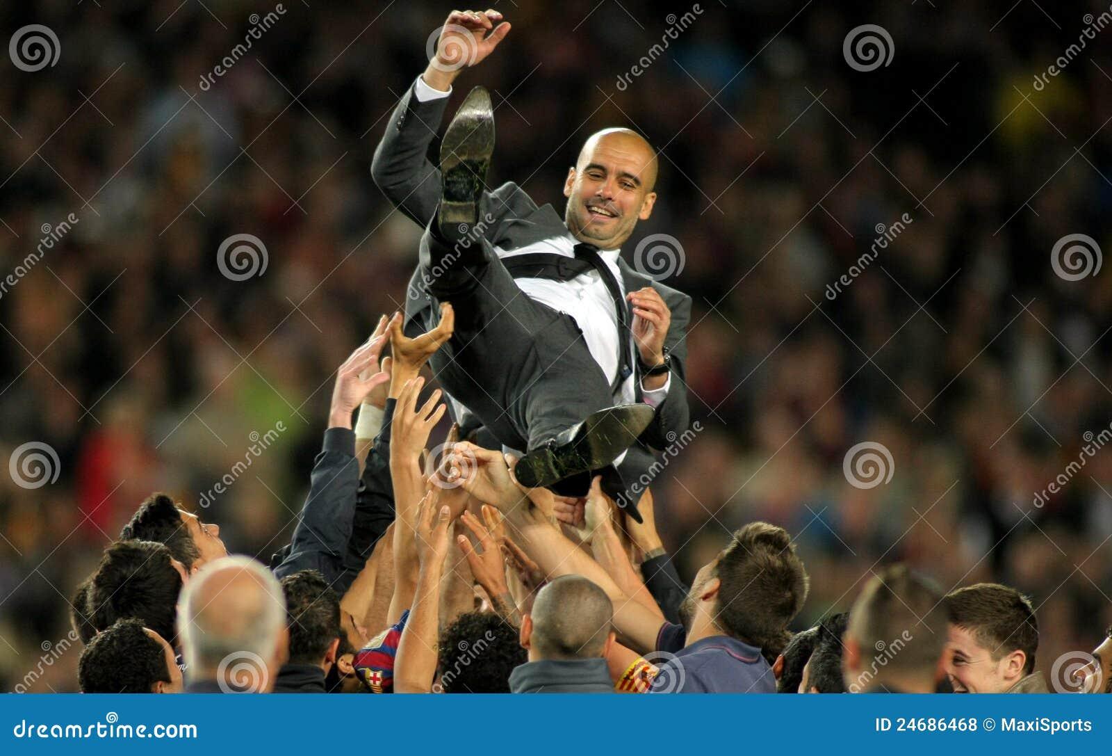Coche Guardiola de FC Barcelona