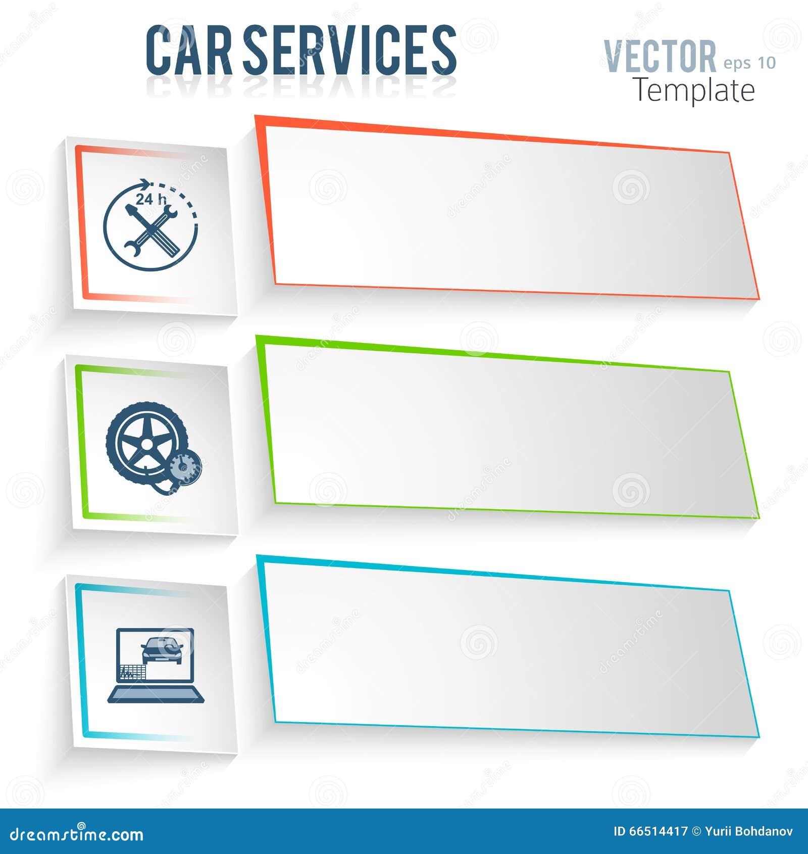 Coche-reparación-servicio-coche-anuncio-plantilla Ilustración del ...