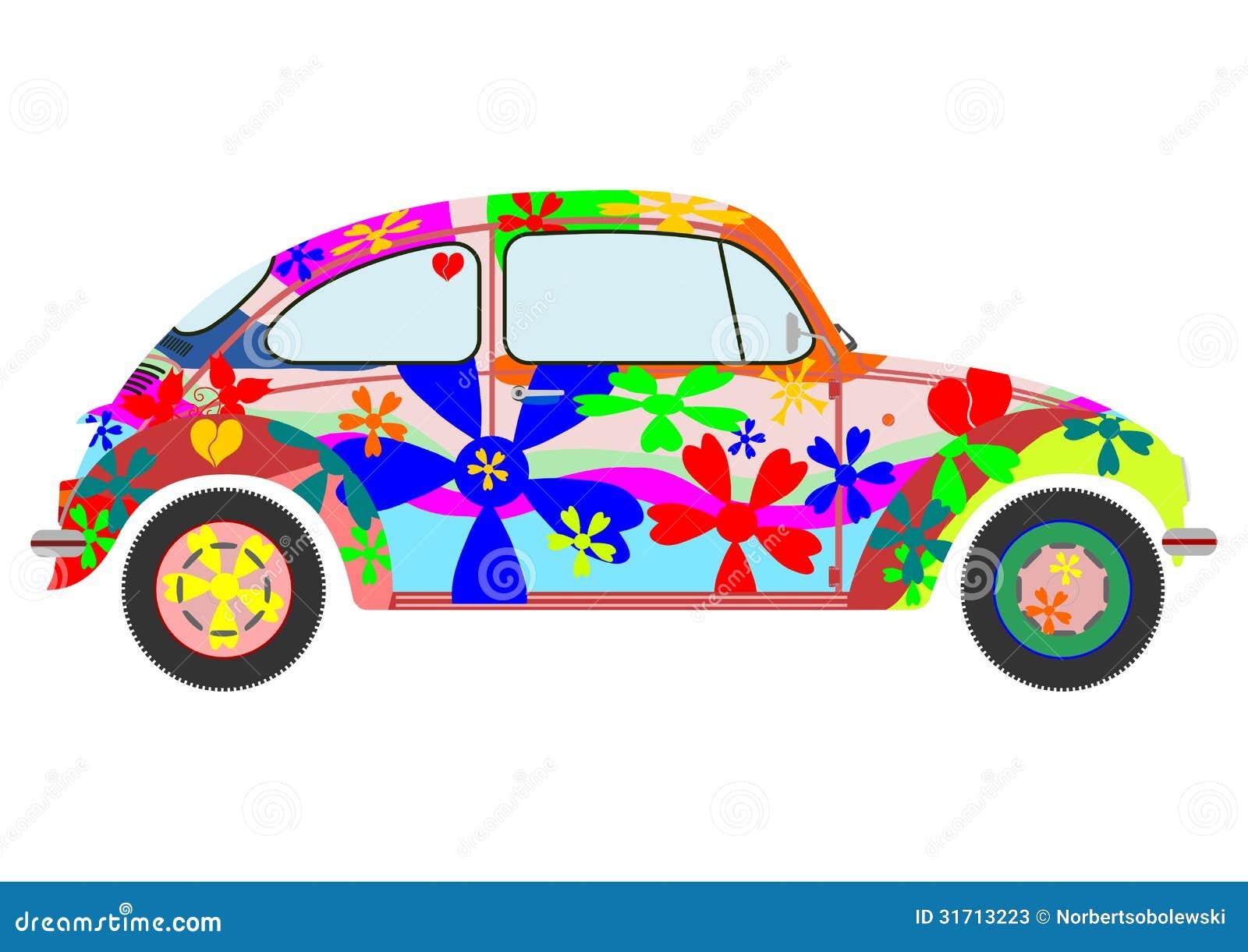 Coche Retro Del Hippie De Colorfur Fotos De Archivo Imagen 31713223