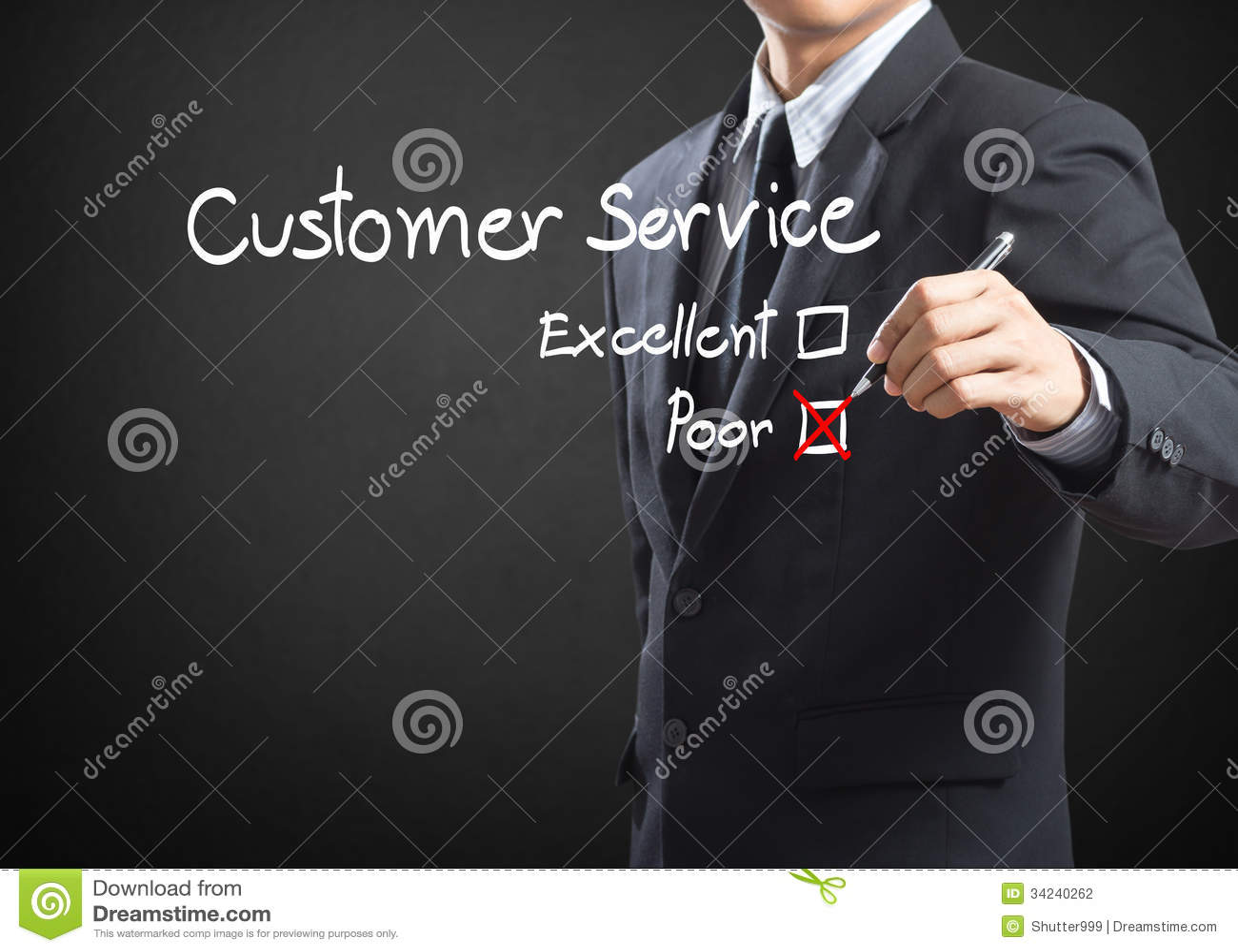 Coche sur le formulaire d évaluation pauvre de service client