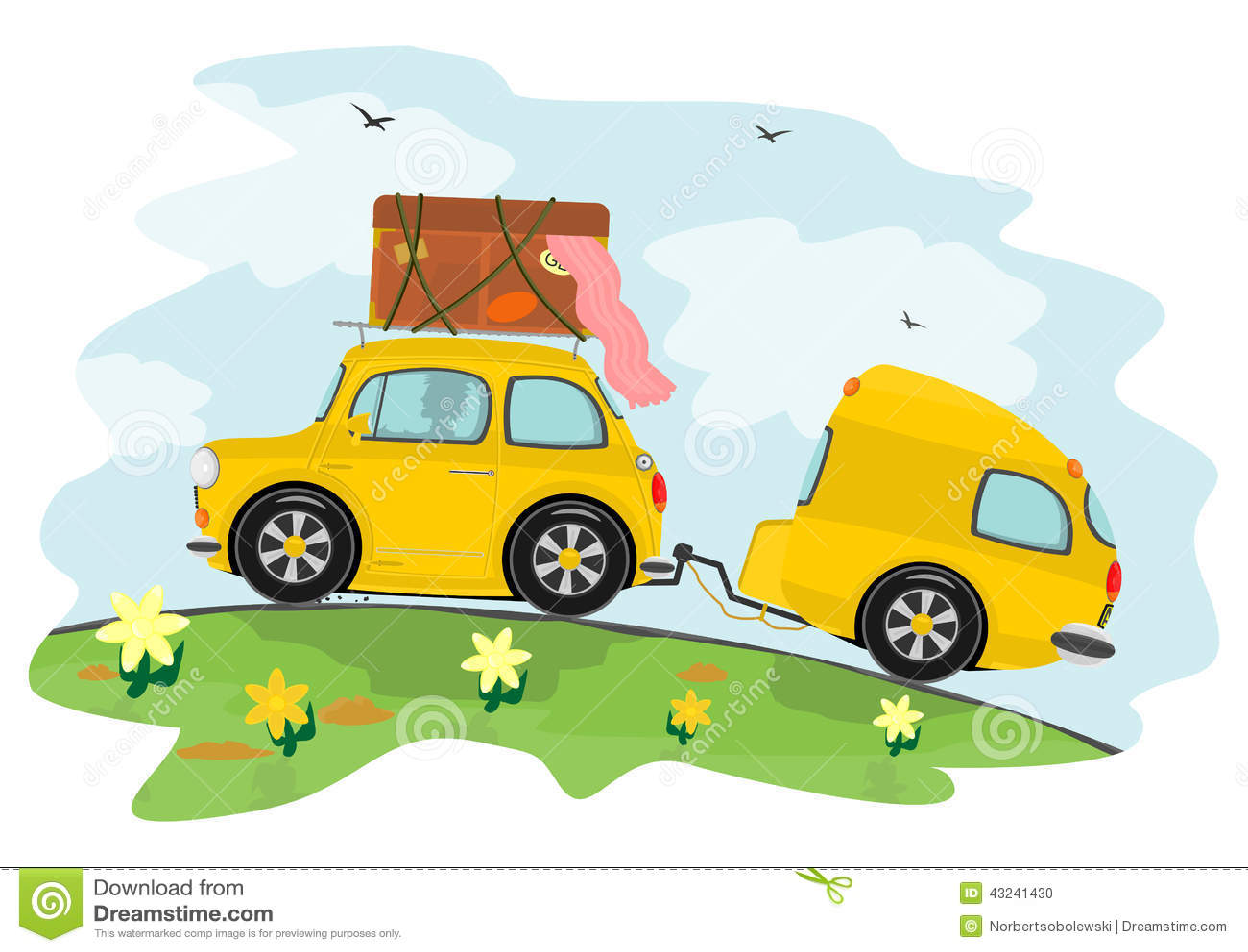 viaje coche caravana: