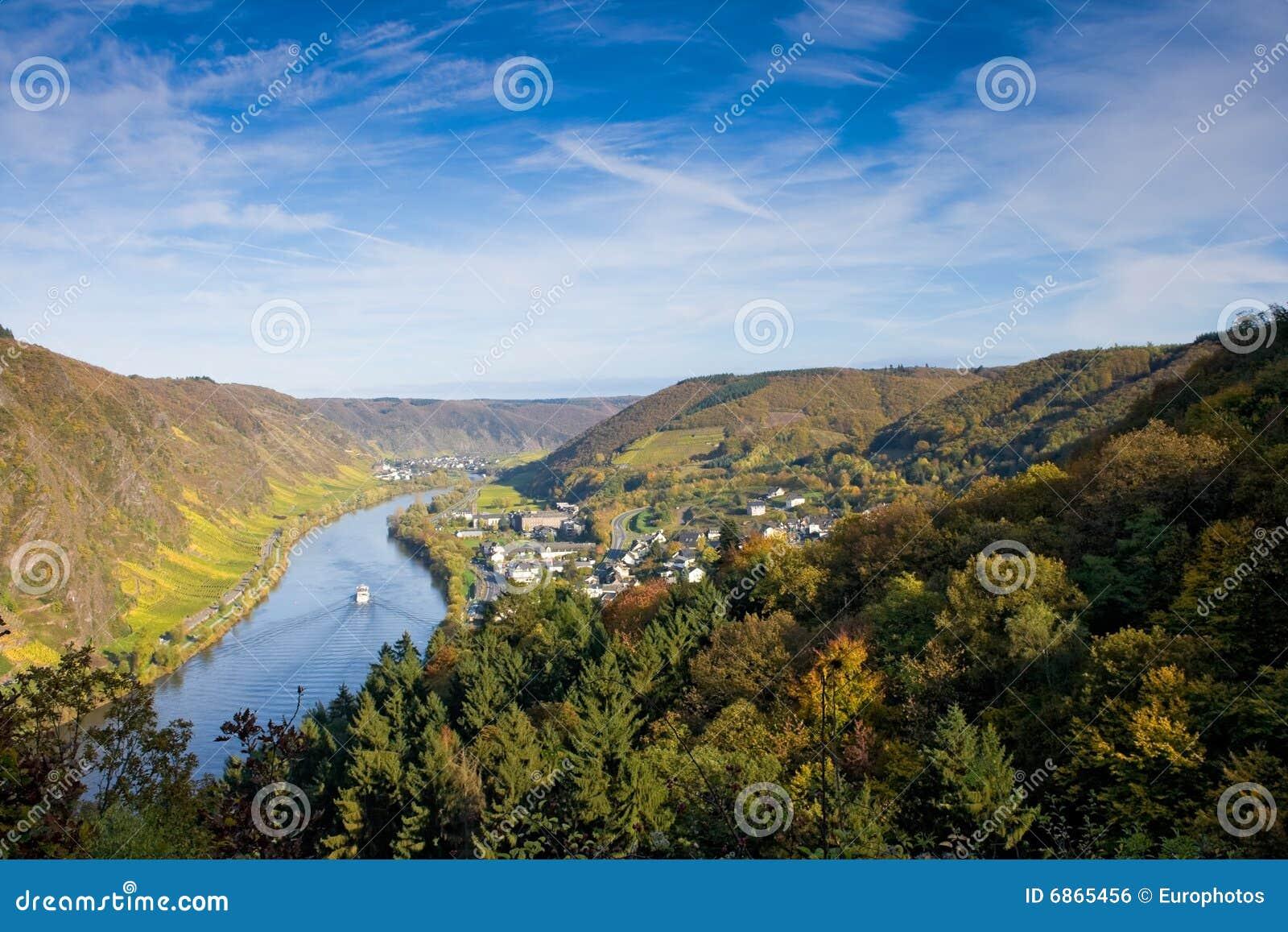 Cochem Германия moselle около долины