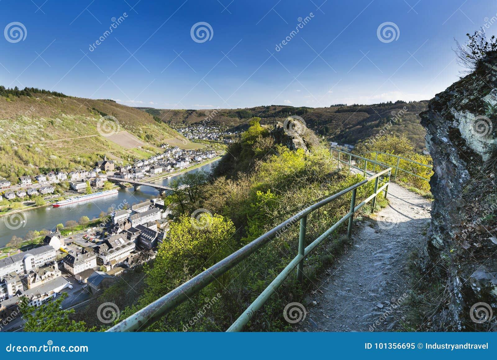 Cochem wzgórza I Moselle, Niemcy