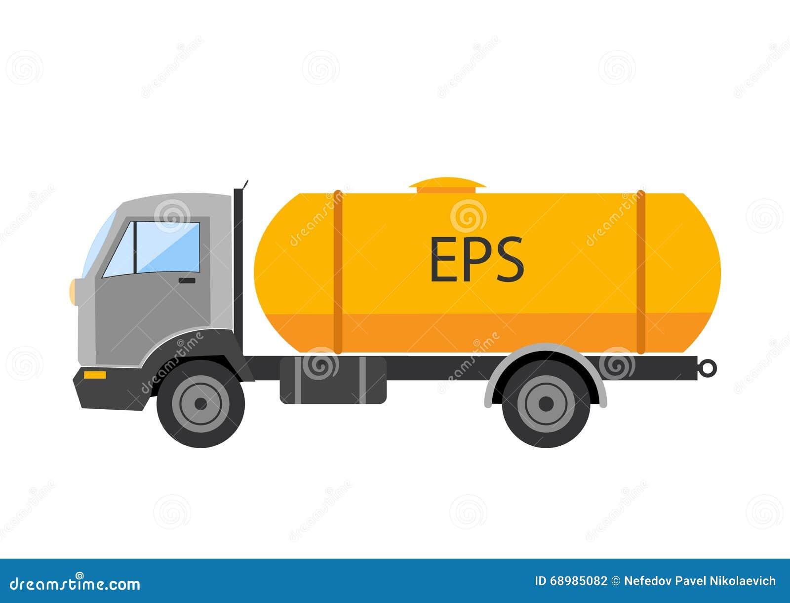 Coches con un barril grande El icono del camión del excursionista del camión que inclinaba de Autotruck aisló el camión que incli