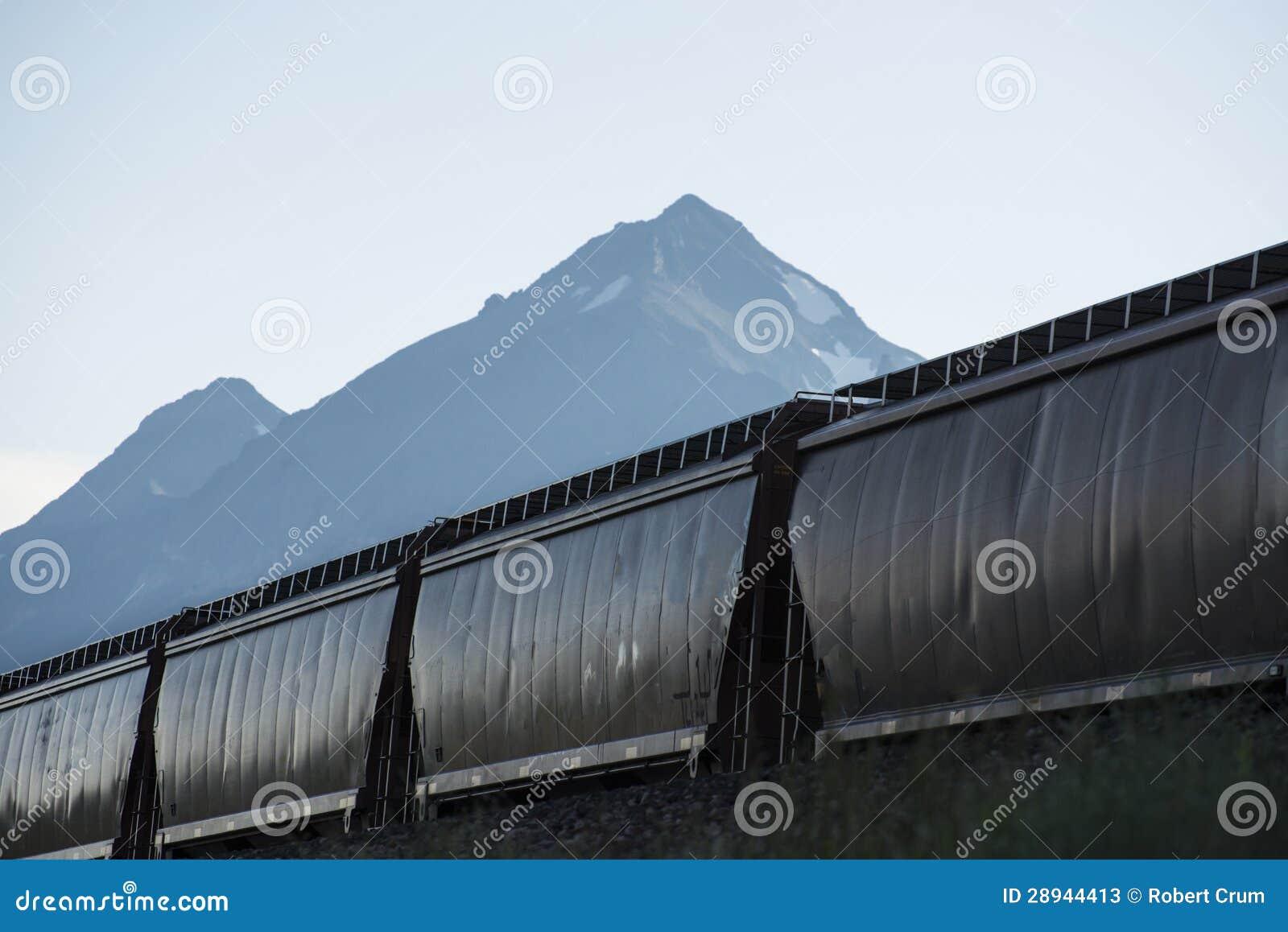 Coches de la tolva del ferrocarril